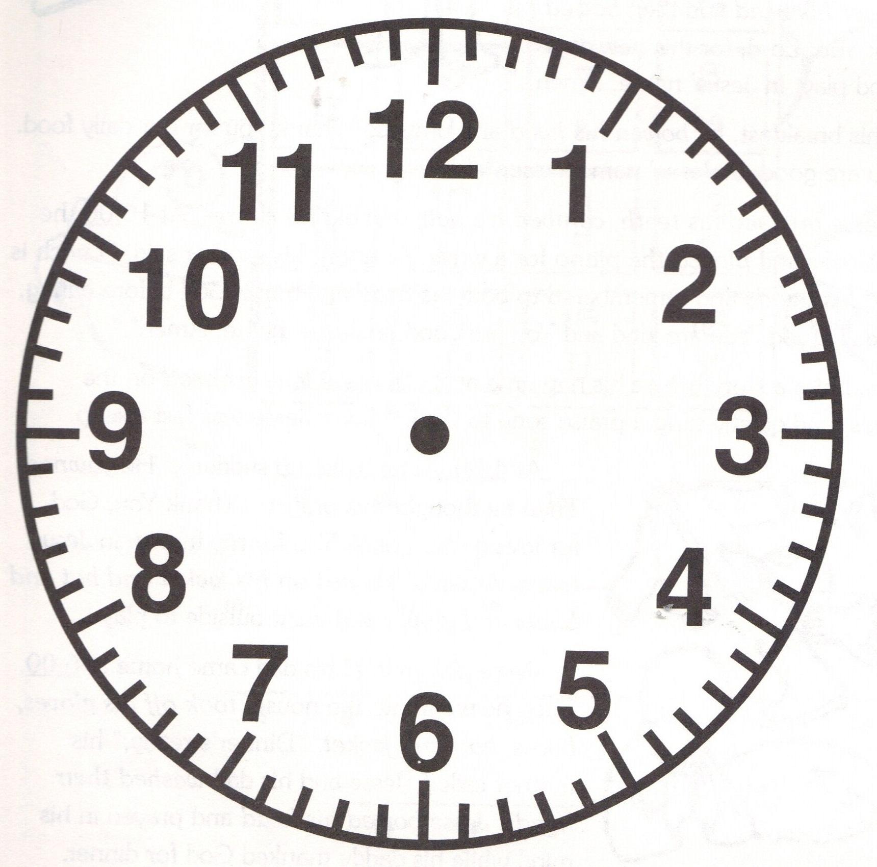 blank clock faces printable