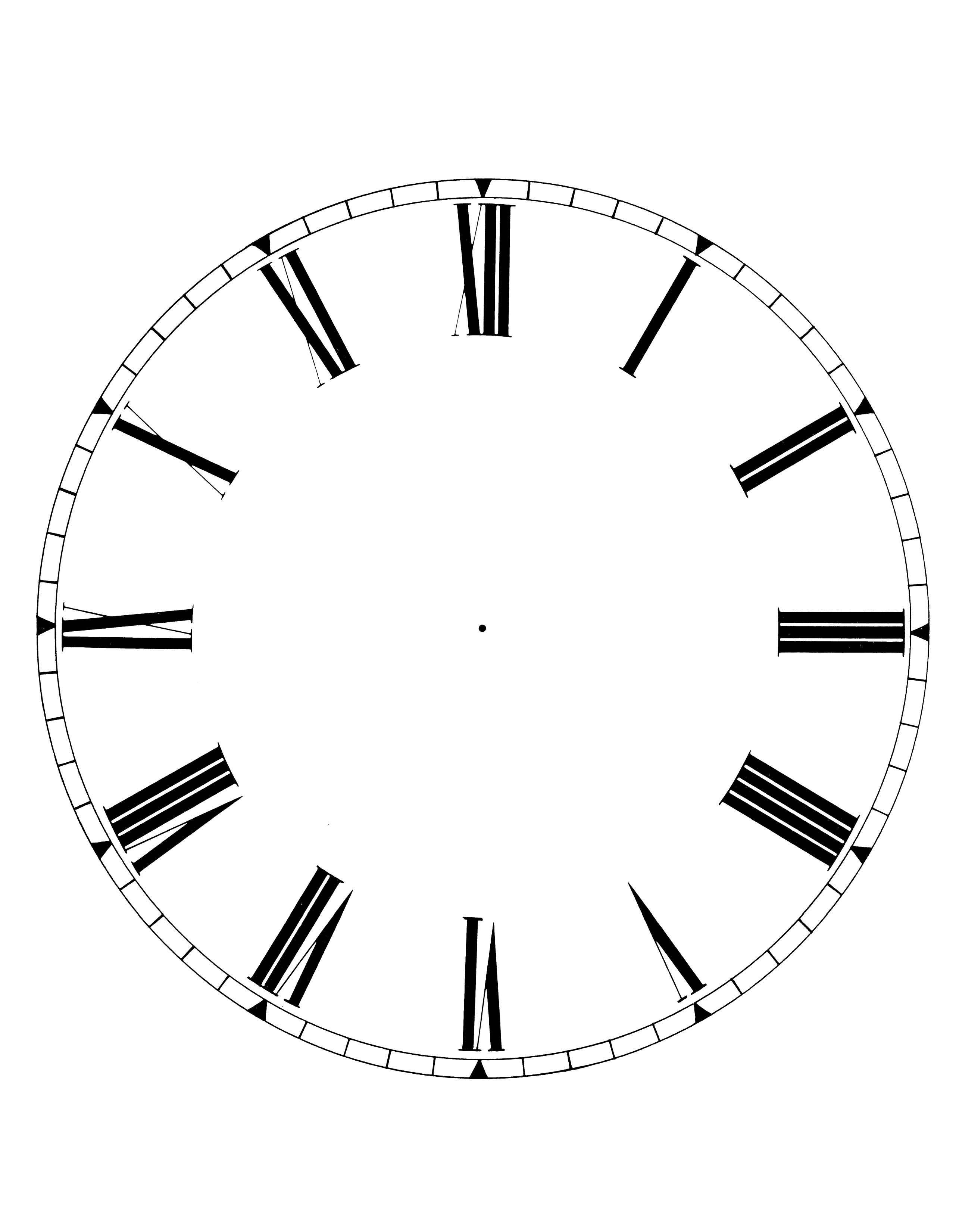 blank clock face interesting