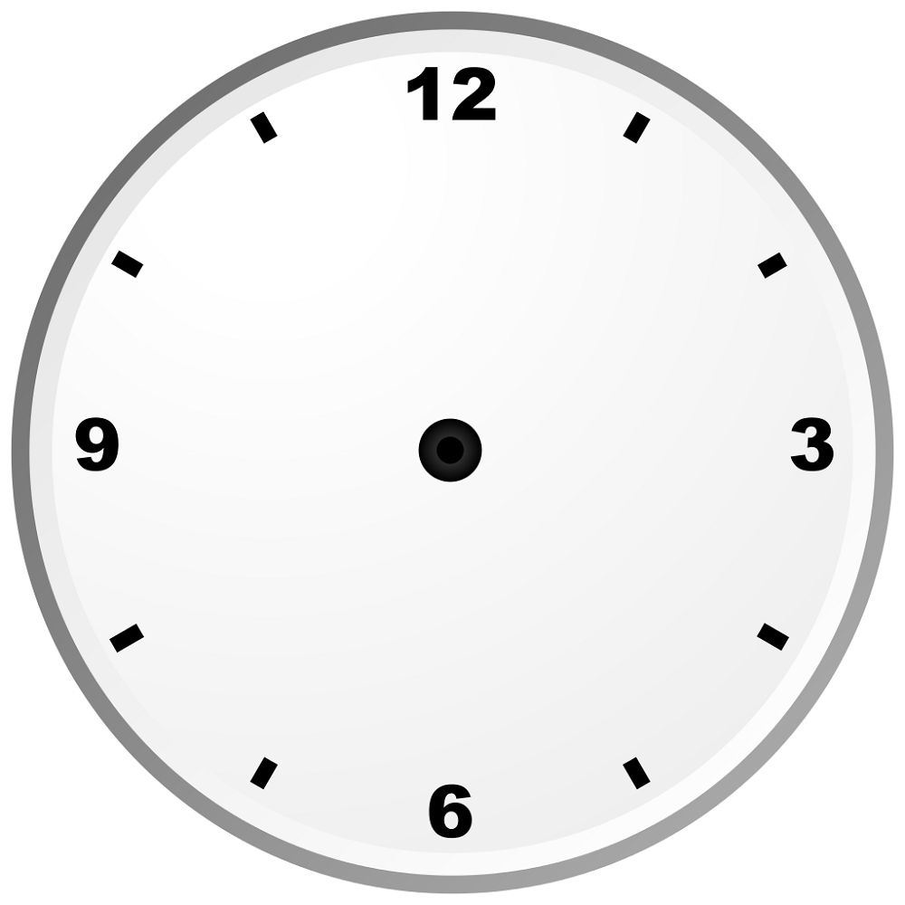 blank clock face worksheet design