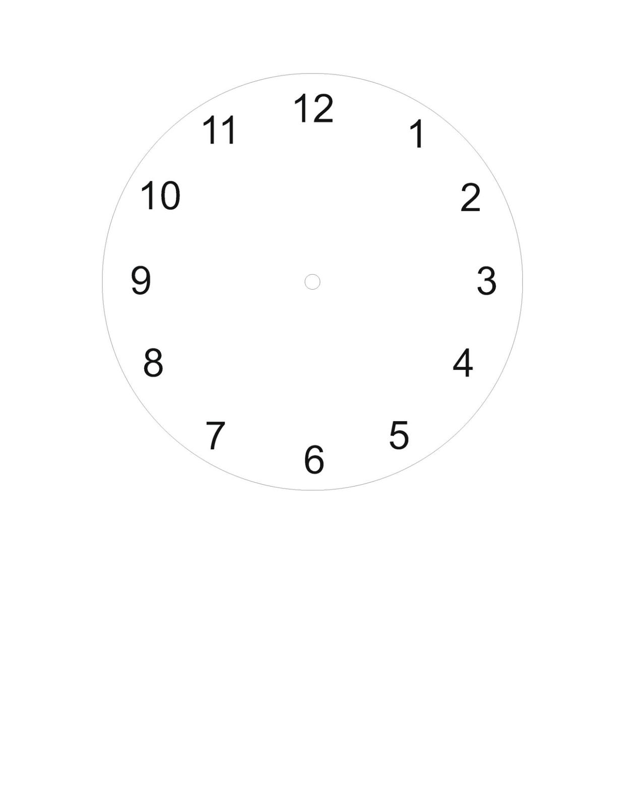 blank clock face worksheet simple