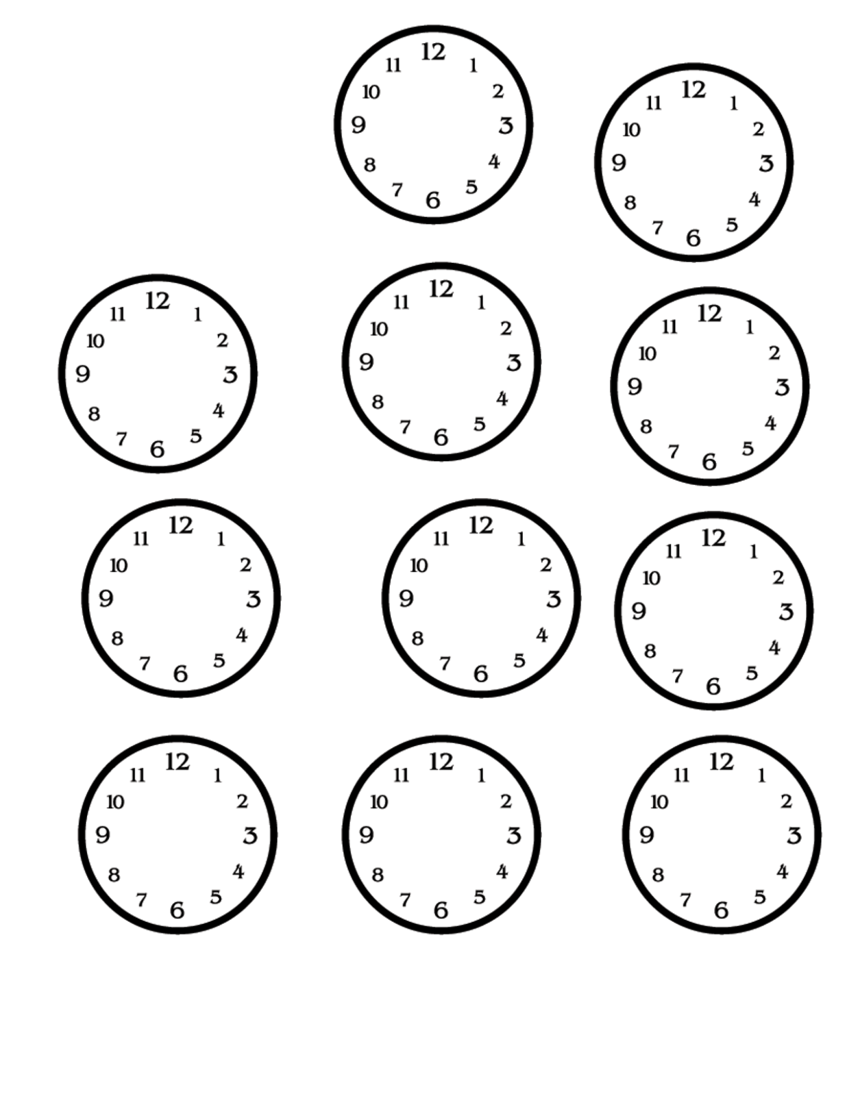 Worksheets Clock Faces Worksheets blank clock faces printable activity shelter face worksheet