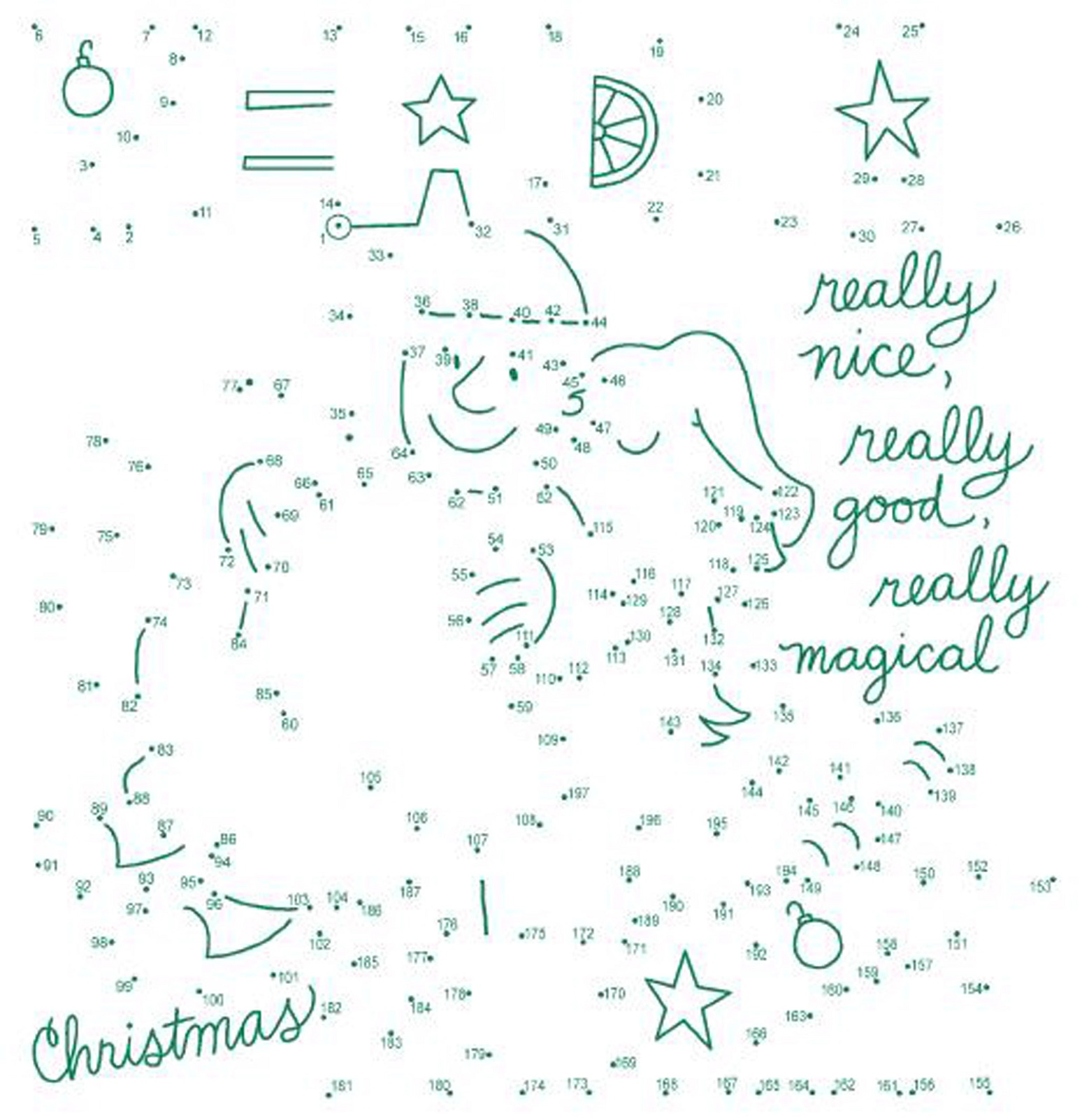 christmas activities for kids tracing