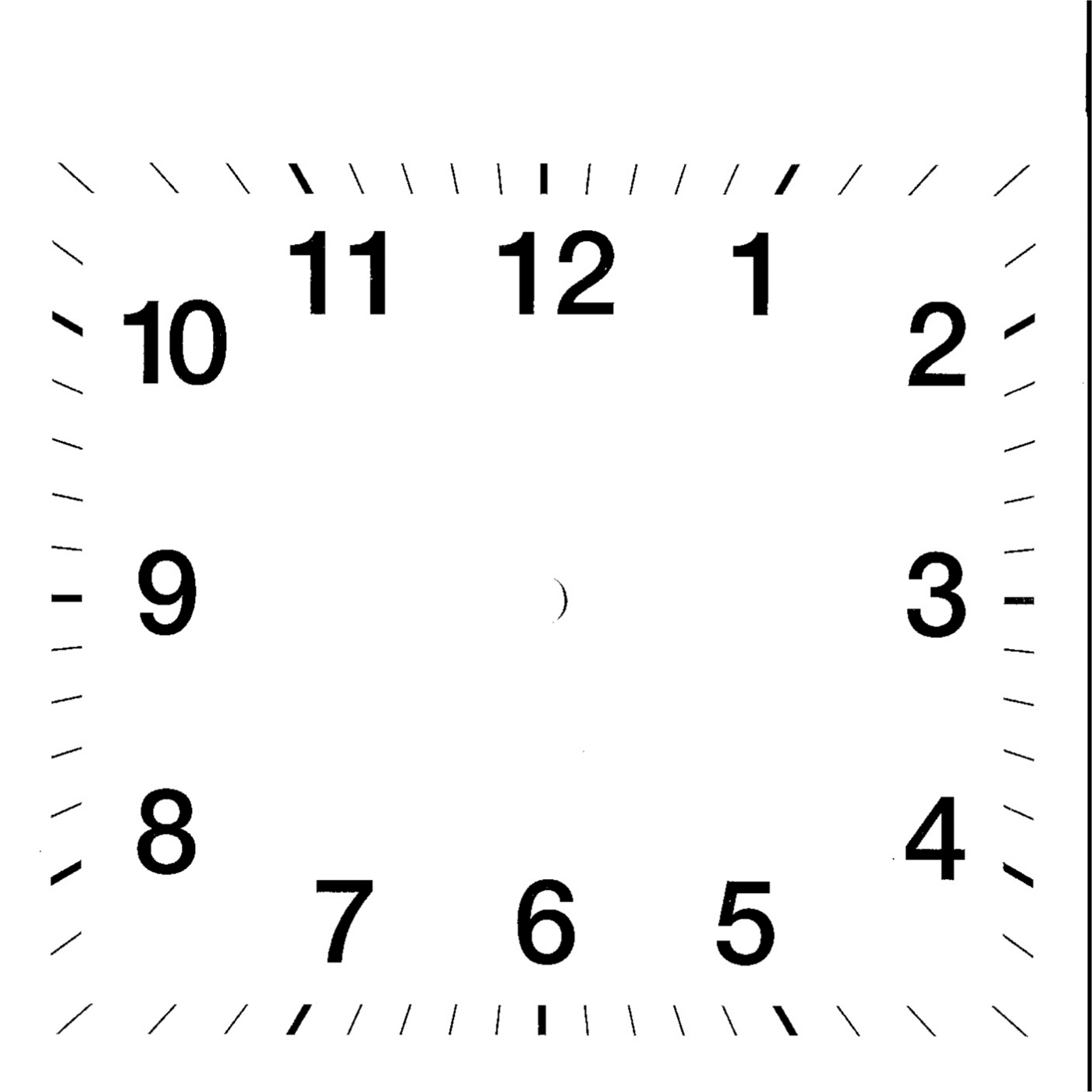 clock face template simple