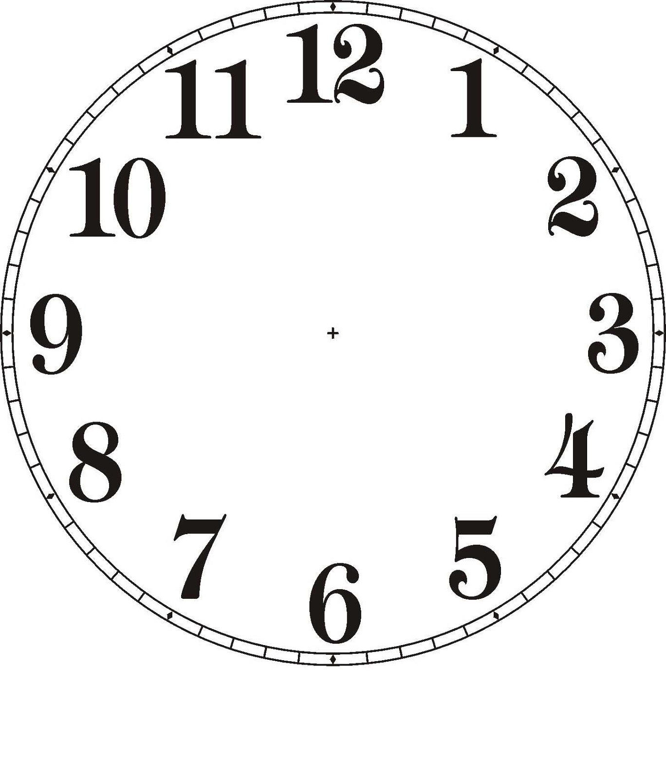 clock face templates design
