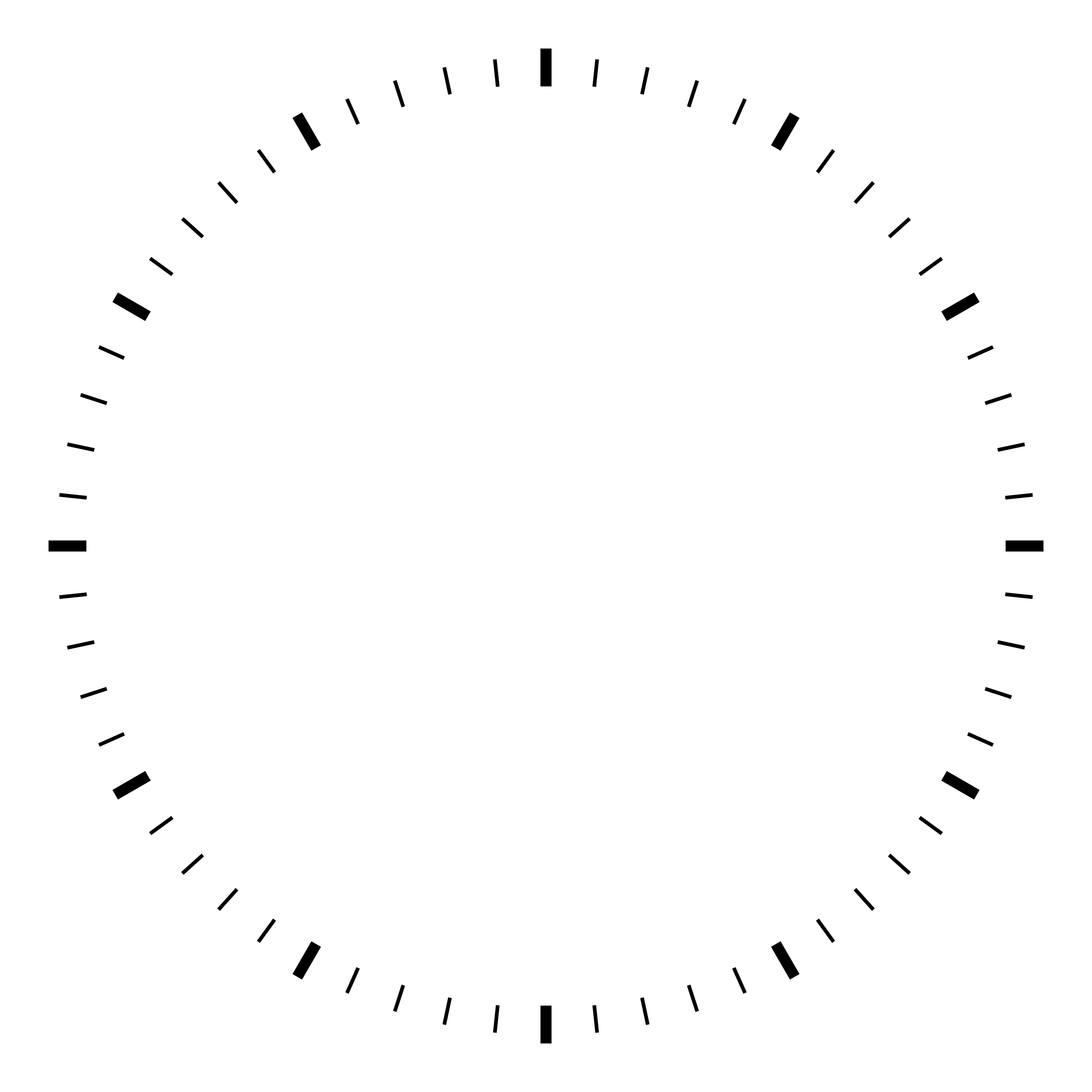 clock face templates simple