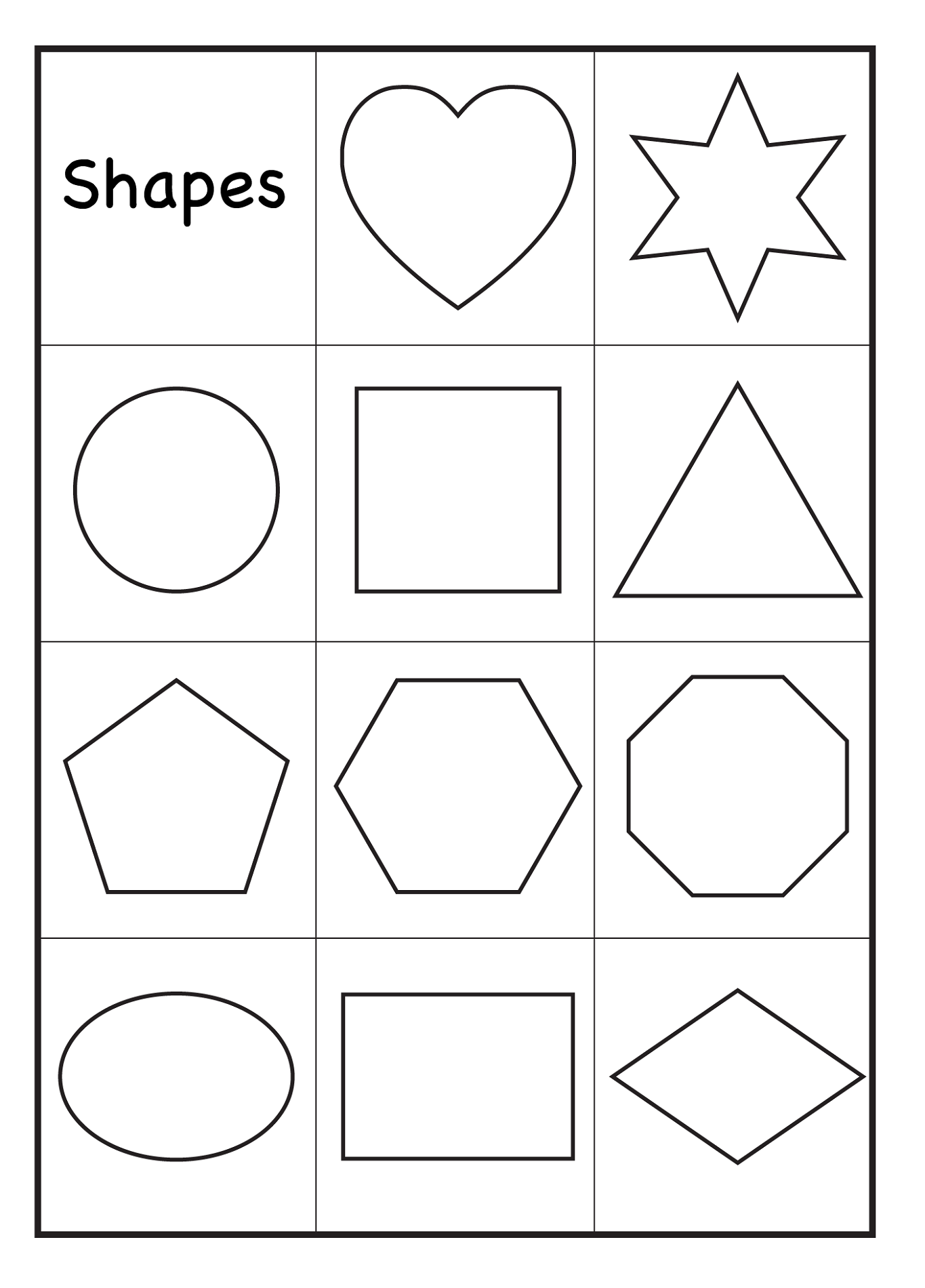 Color by shape worksheet free worksheets library for Color by shape coloring pages