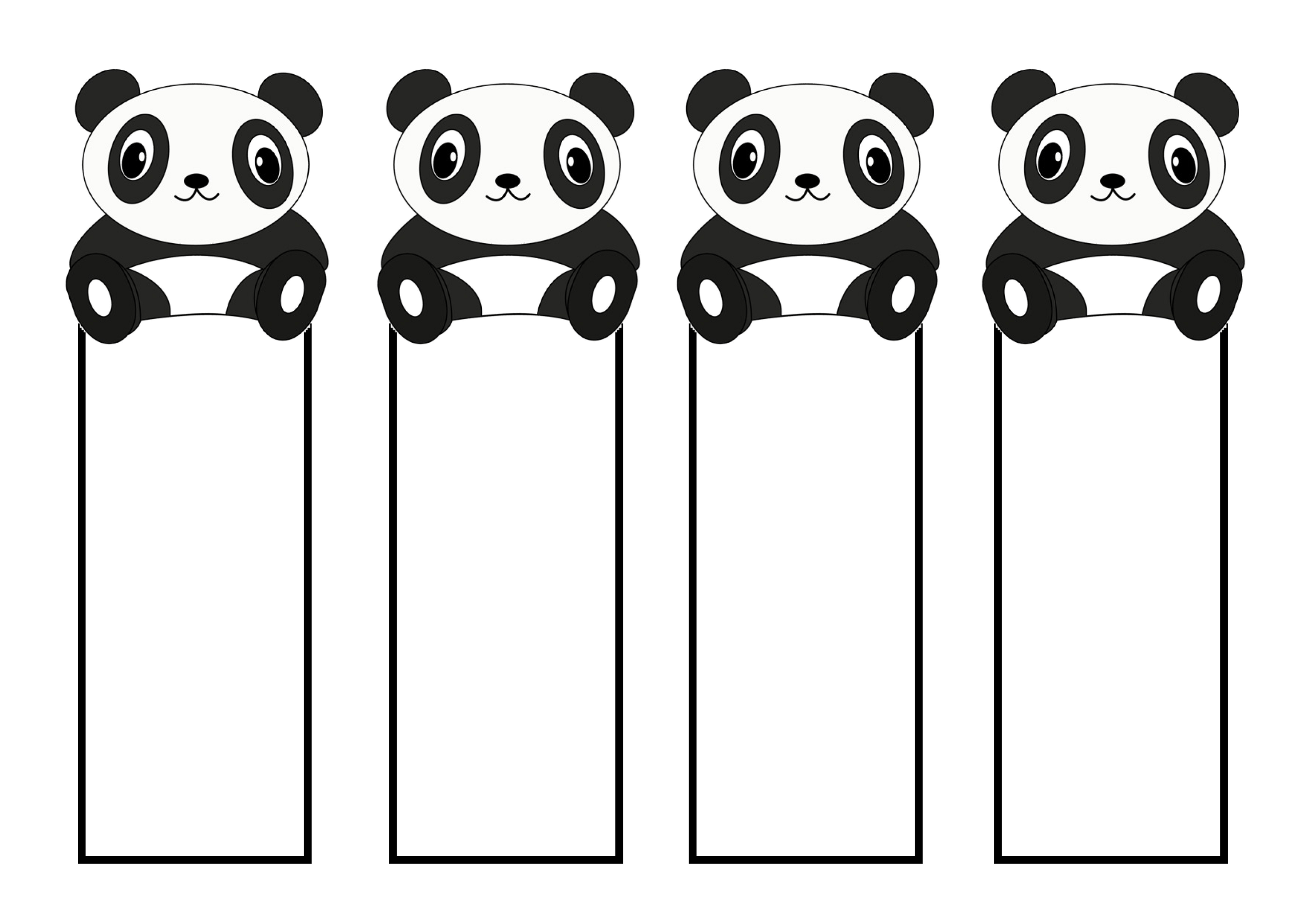cute bookmarks pandas