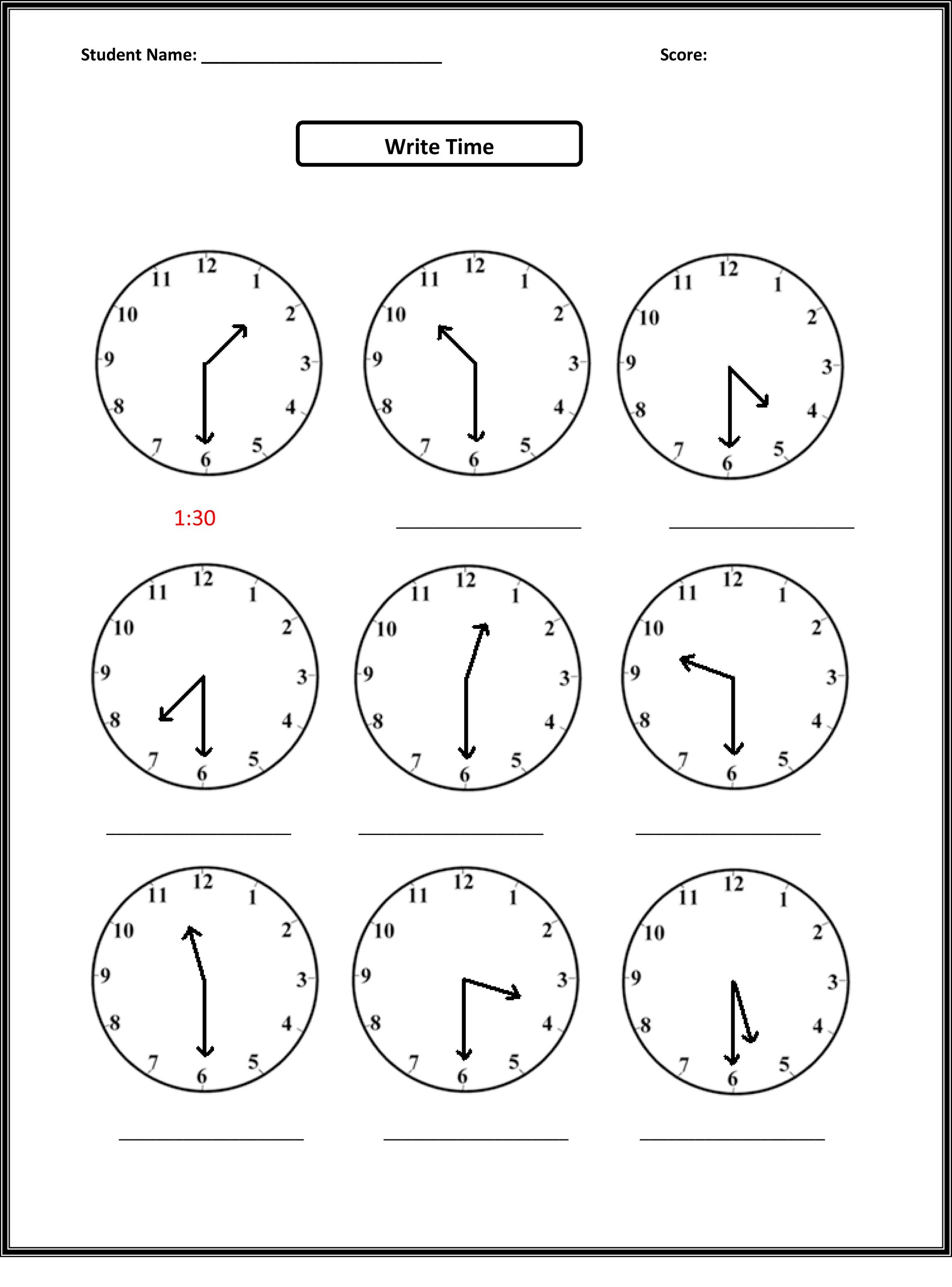 Easy Elapsed Time Worksheets – Free Elapsed Time Worksheets