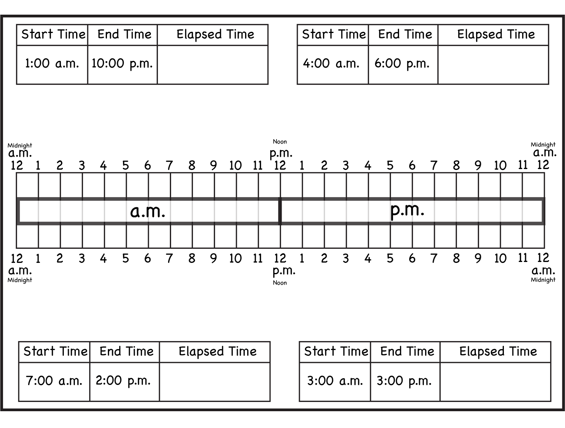 elapsed time rulers for school