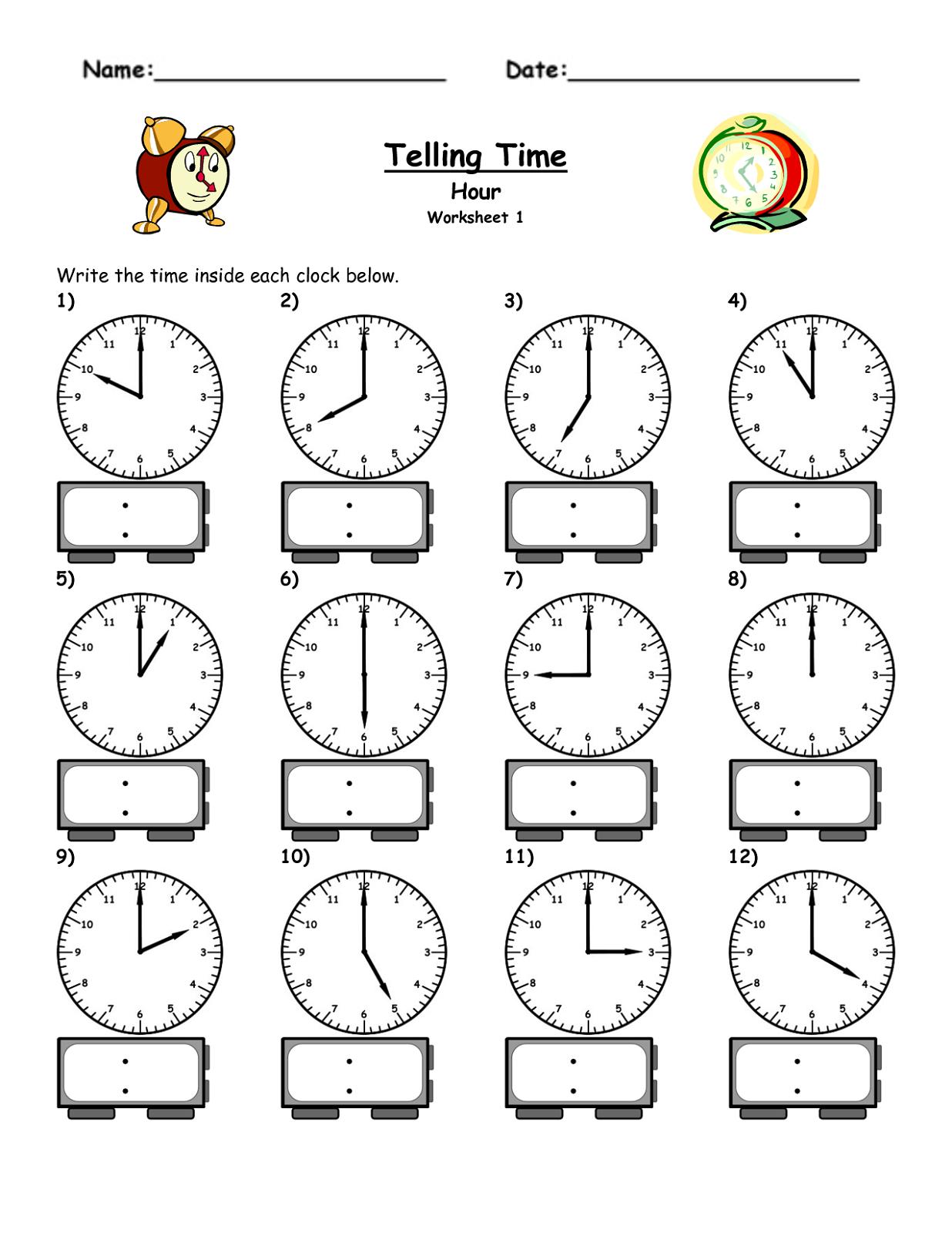 Free Elapsed Time Worksheets | Activity Shelter