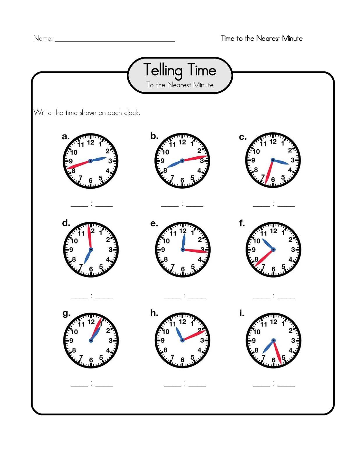 Free Elapsed Time Worksheets – Elasped Time Worksheets