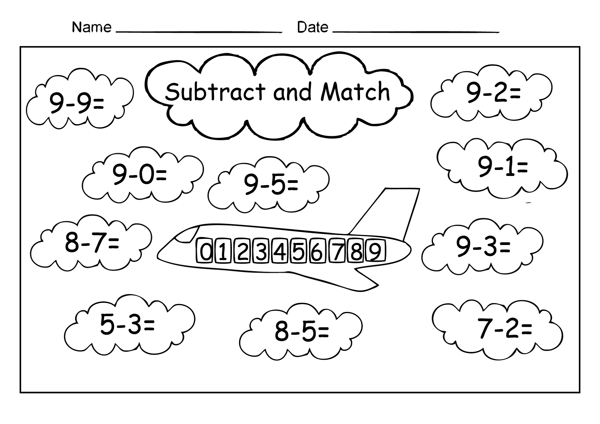 free fun worksheet matching