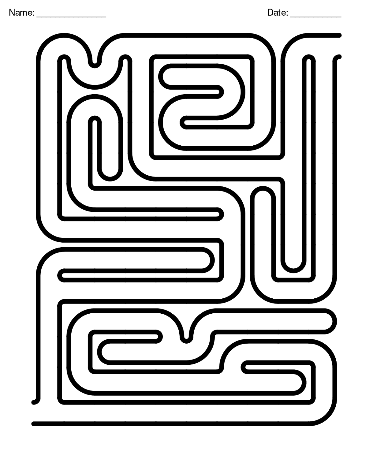 free maze worksheet for game