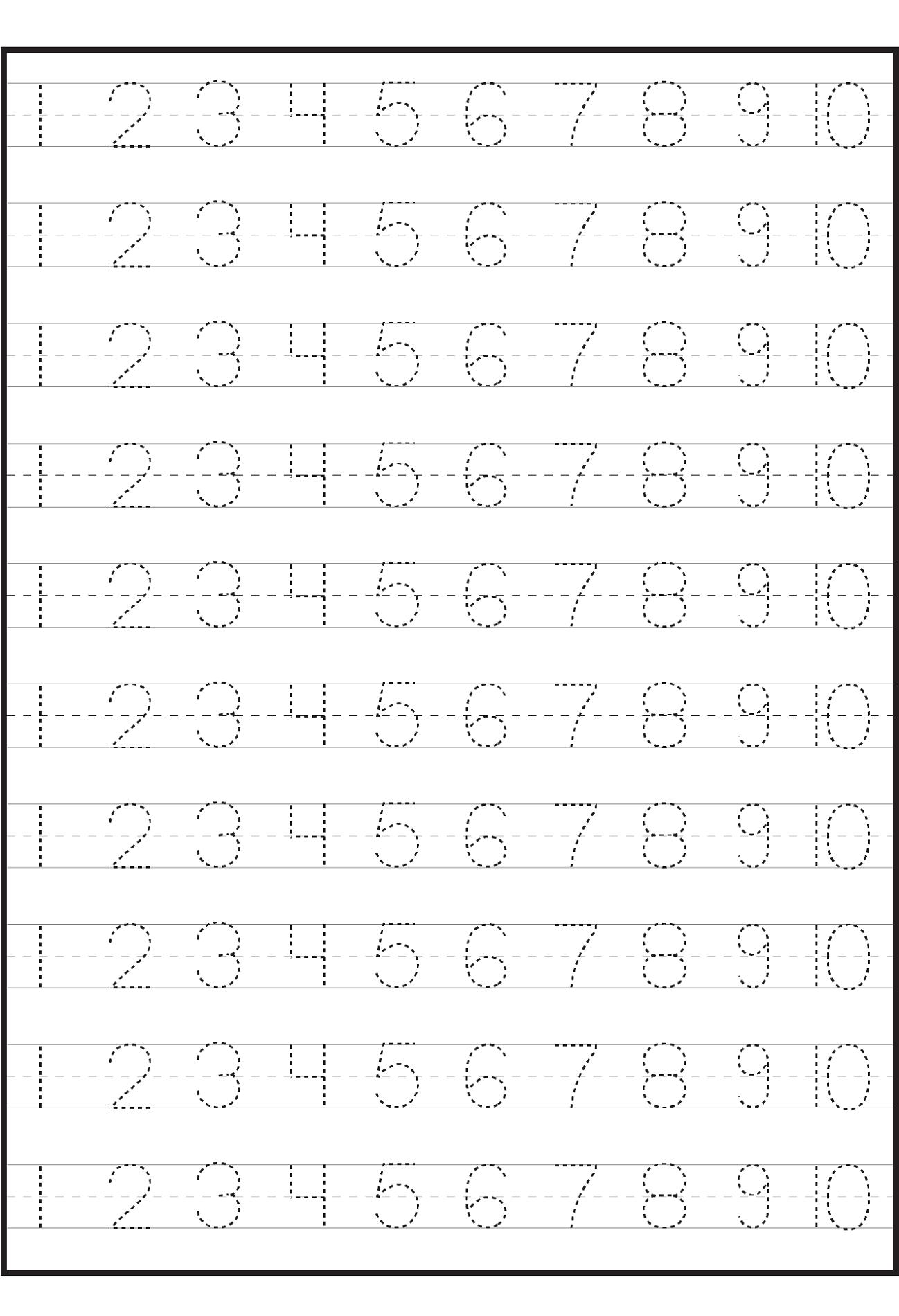 free number tracer worksheet