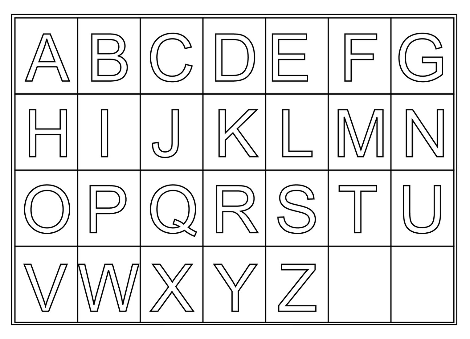 free printable letters A-Z