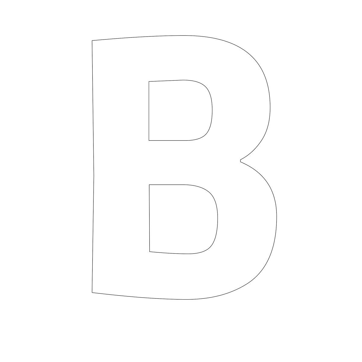 free printable letters B