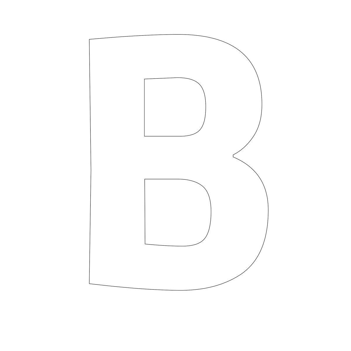 free printable letters B