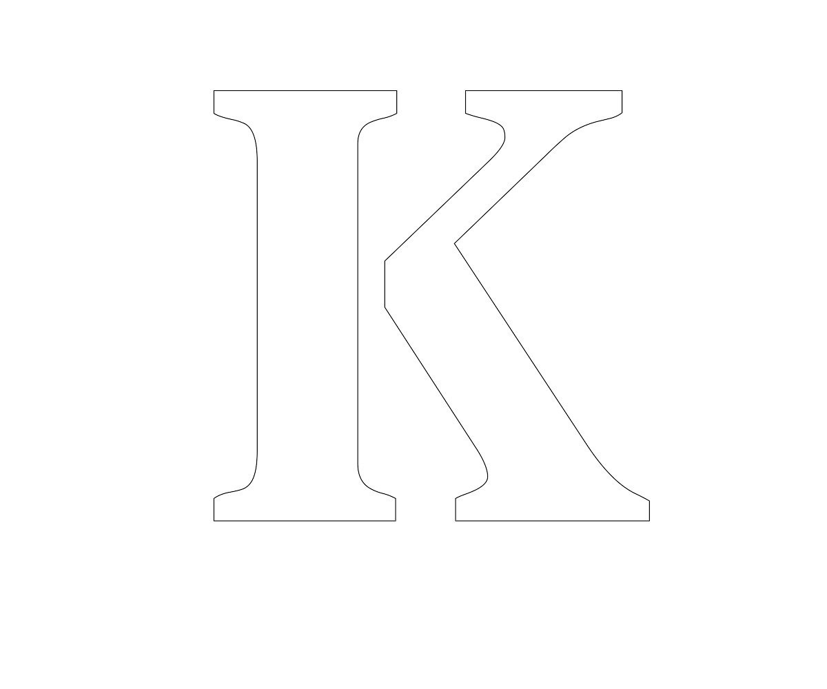 free printable letters K