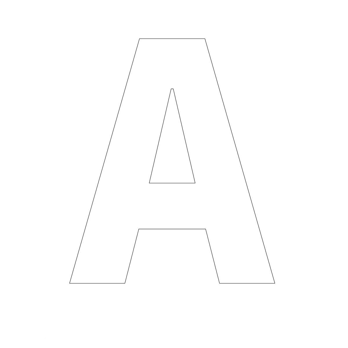 free printable letters letter A