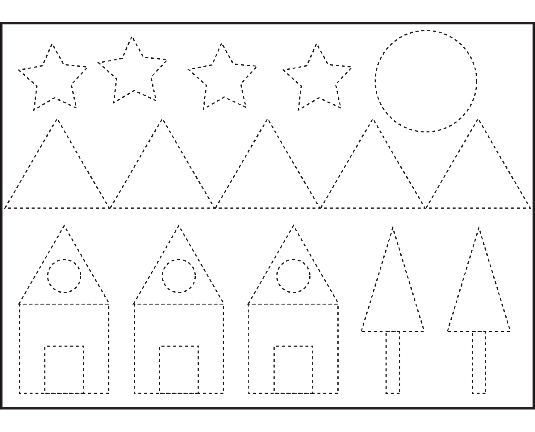 Free Shapes Worksheets – Shape Worksheet for Kindergarten