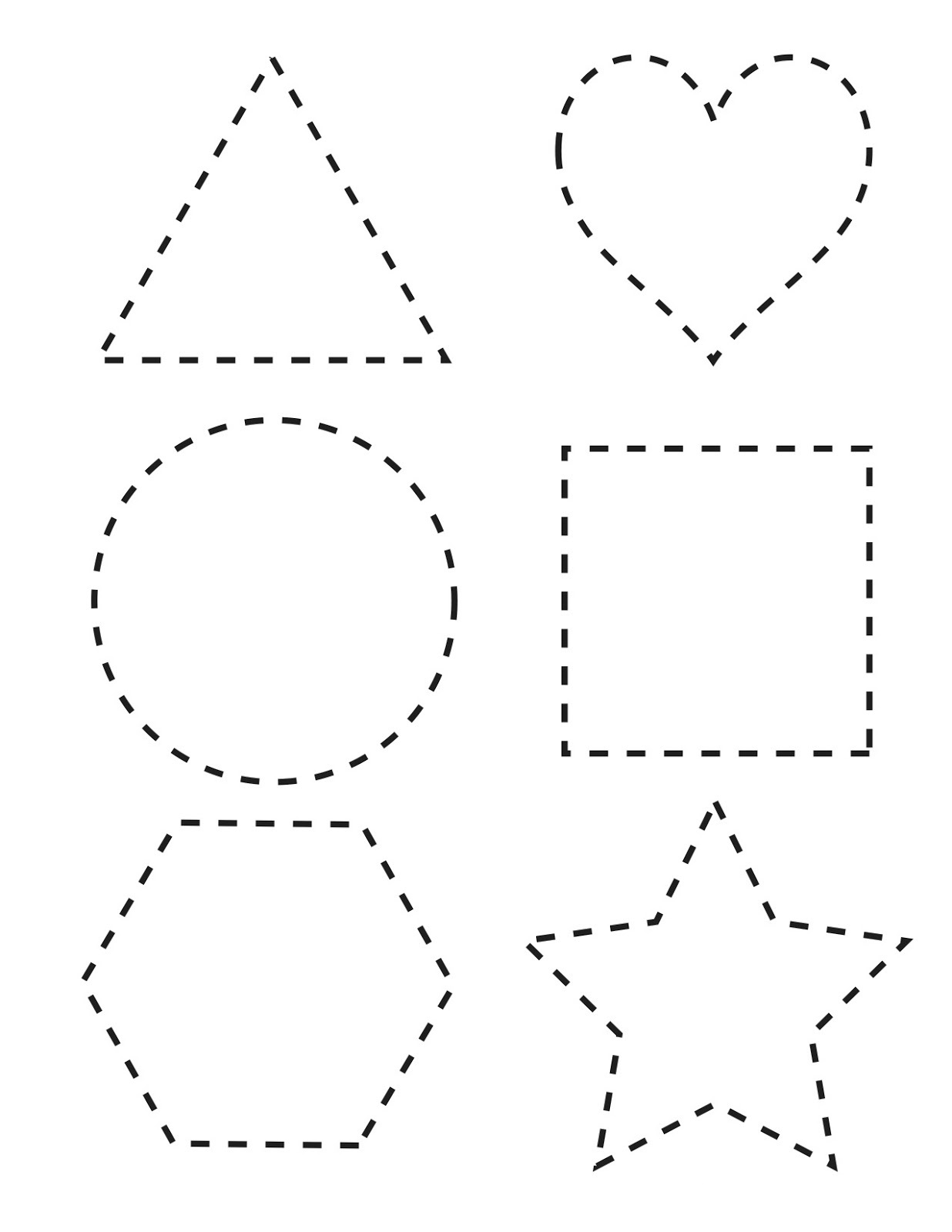 free shapes worksheets interesting