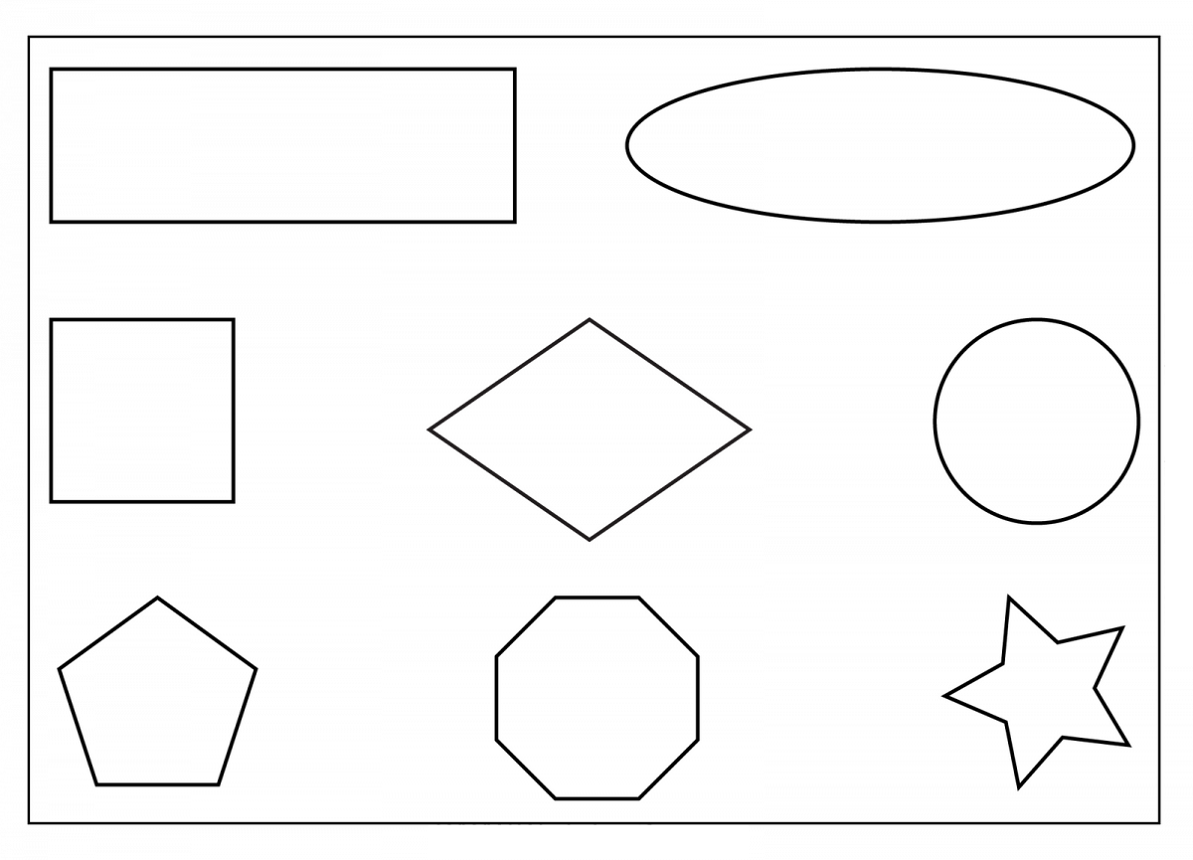 free shapes worksheets printable