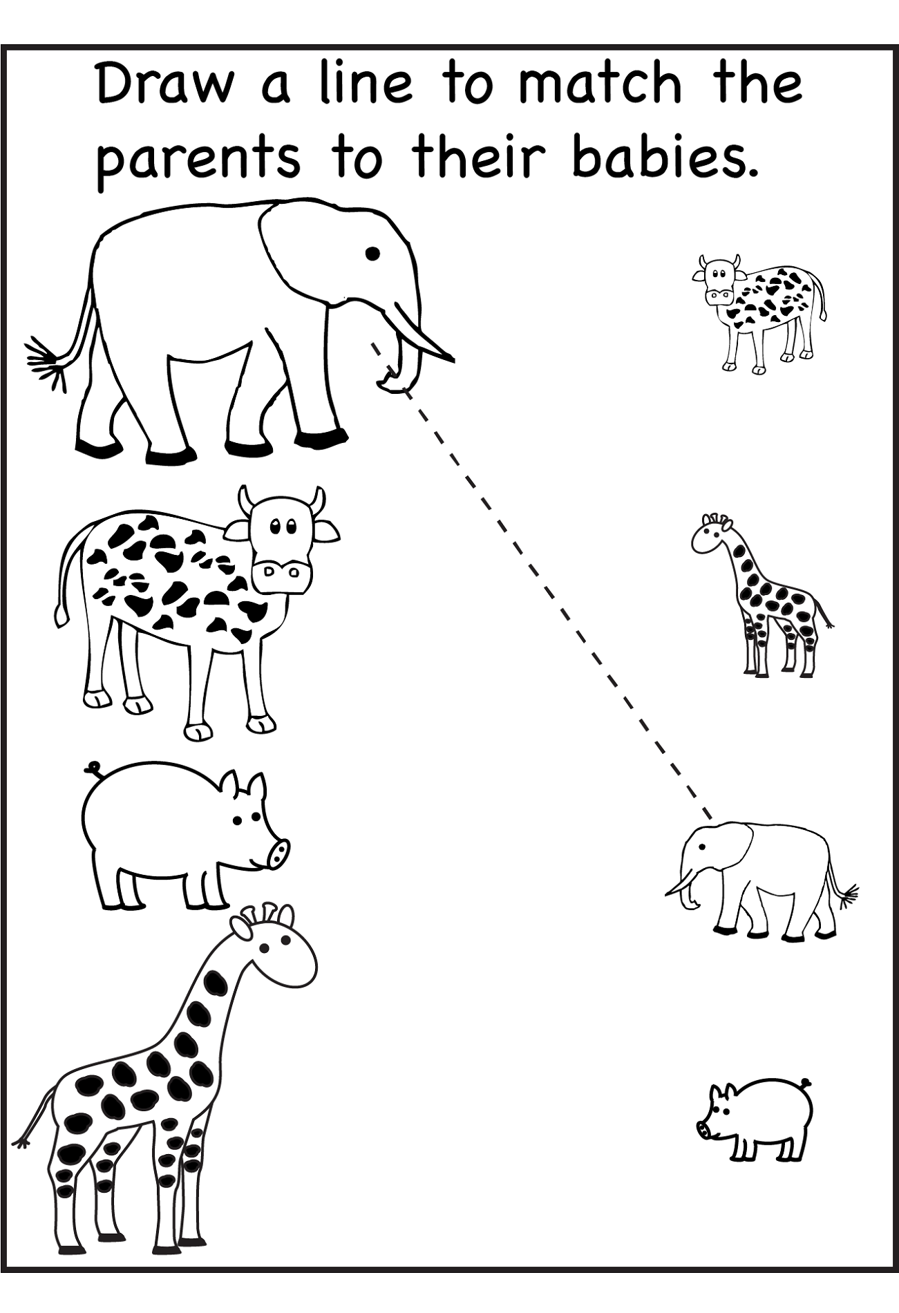 fun kids worksheet matching