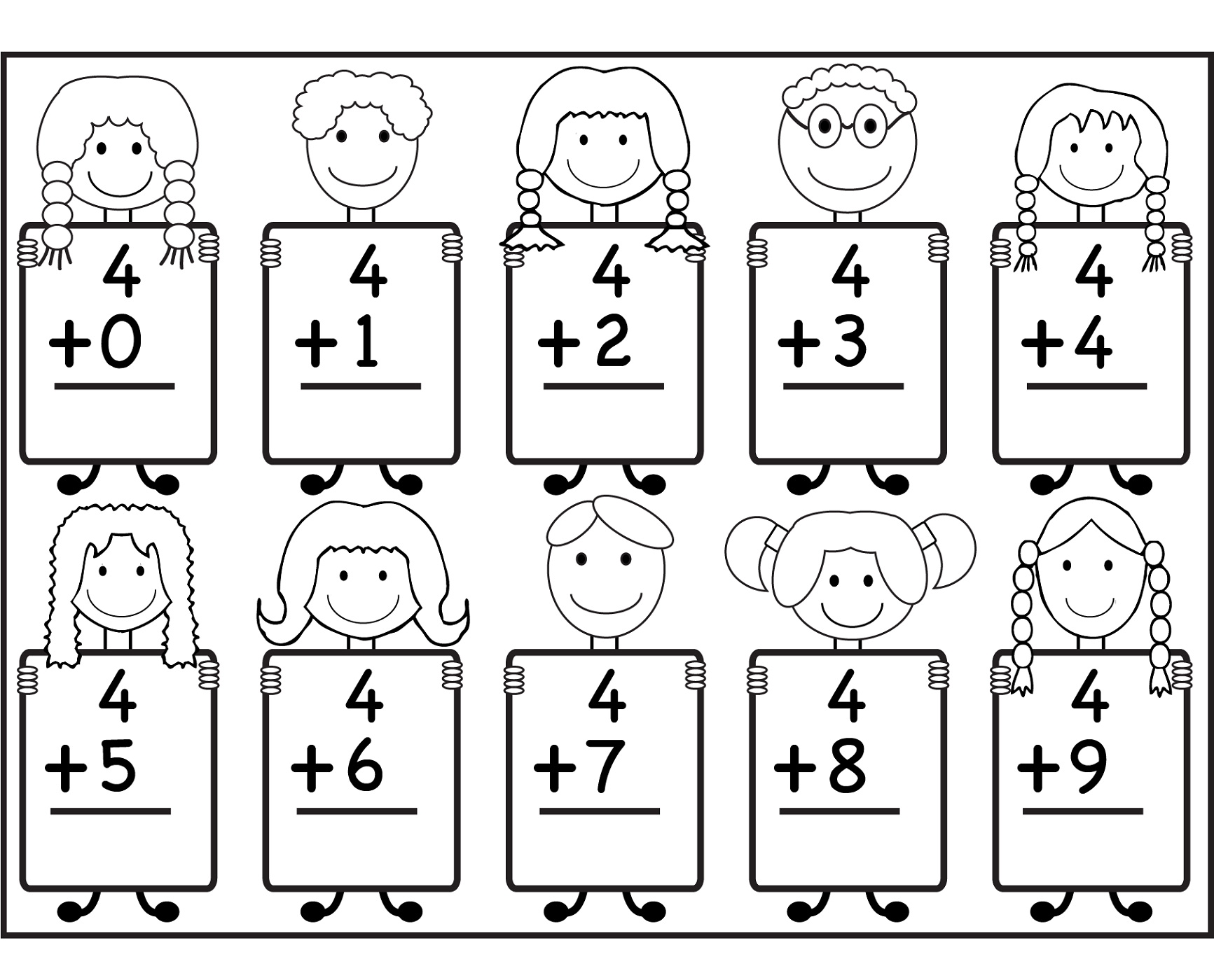 fun sheets for math for children