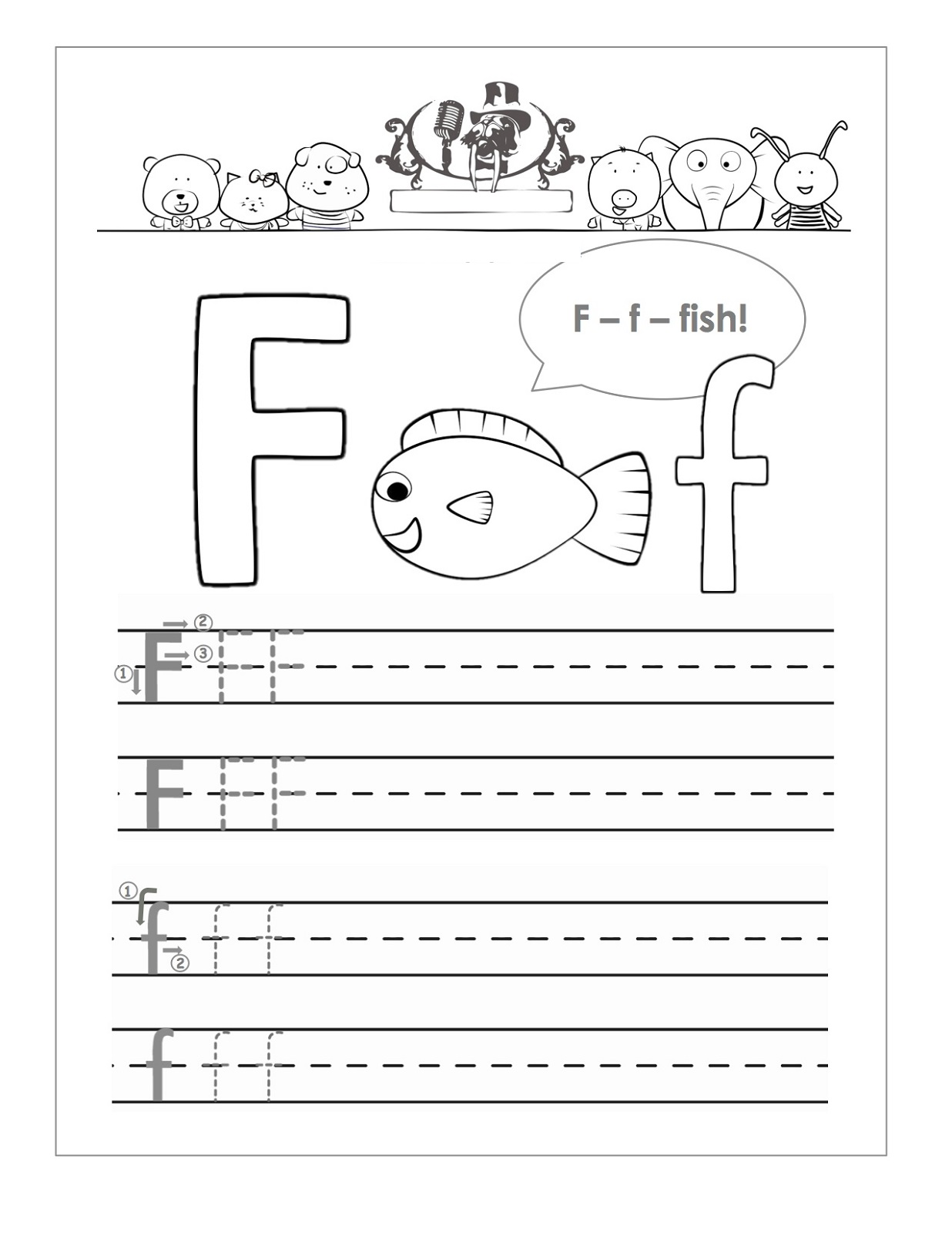 handwriting sheets fish