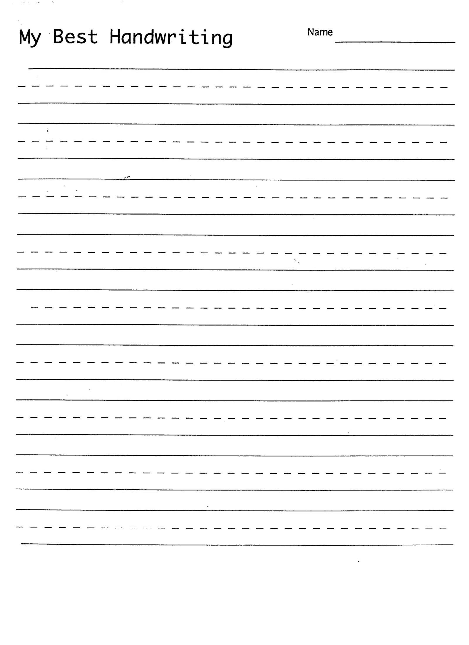 Handwriting Practice Sheets Template Ms Word Handwriting
