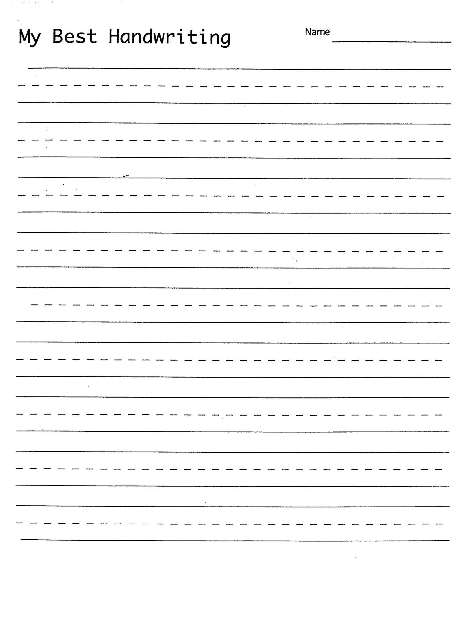 handwriting sheets printable