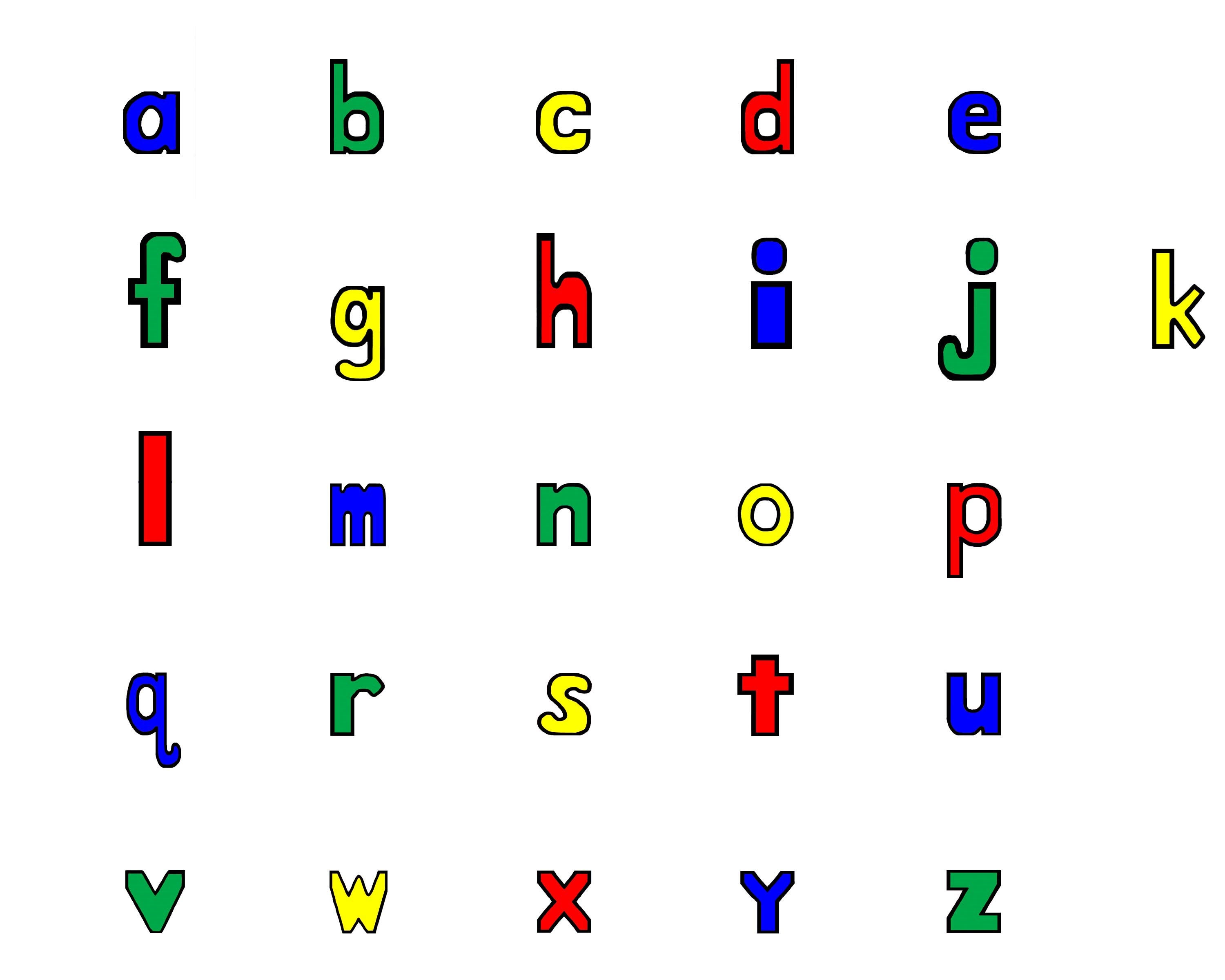 lower case alphabet creative