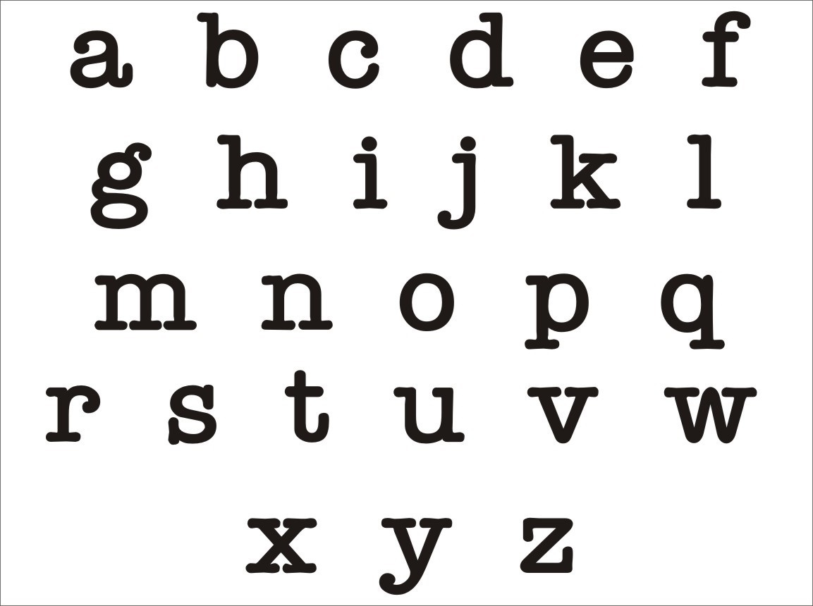 lower case alphabet template