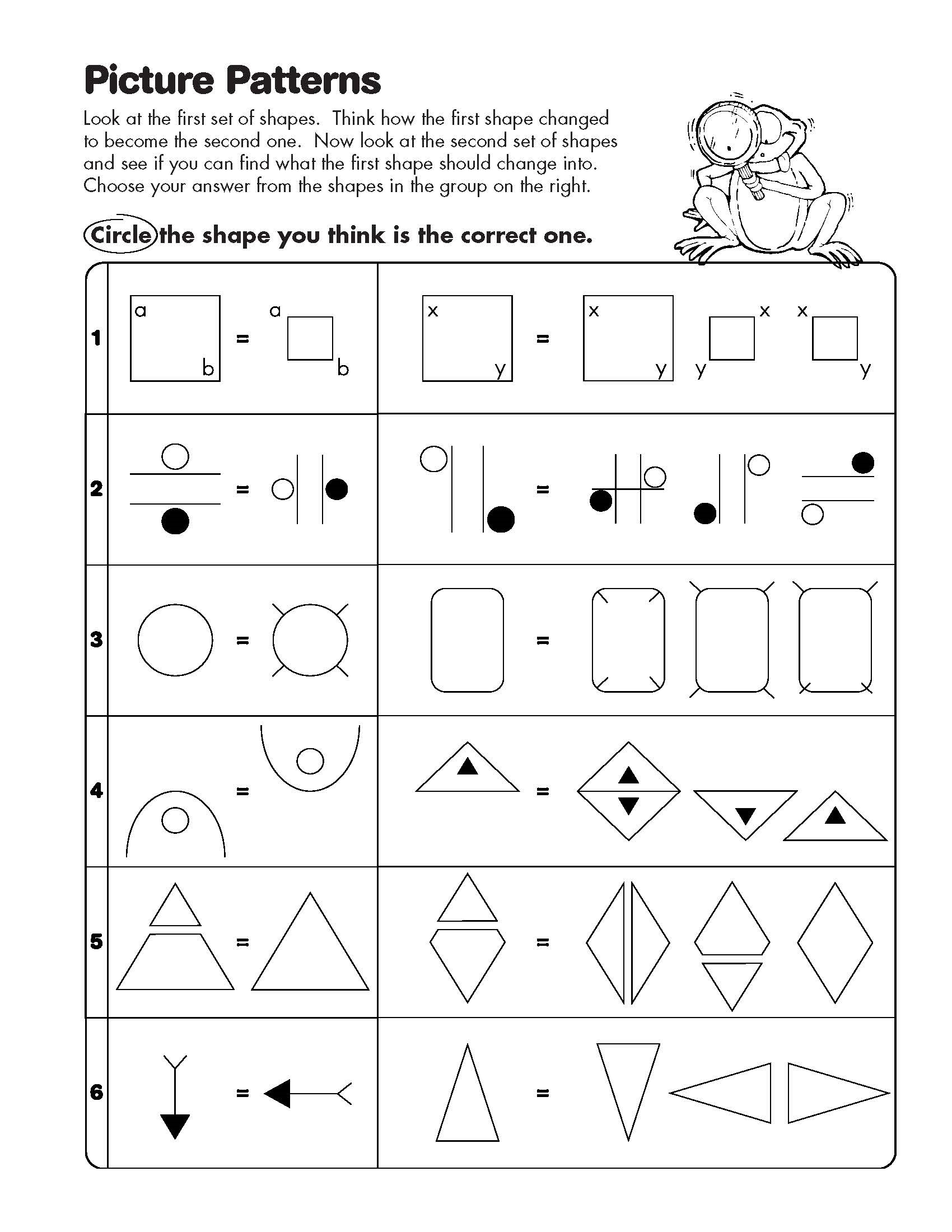Math Analogies Worksheets – Math Analogies Worksheet