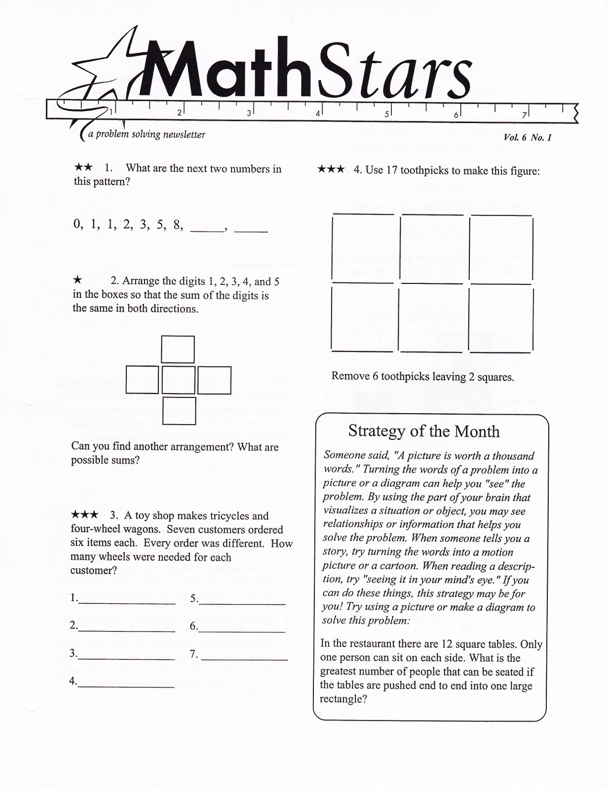 math fun worksheets stars