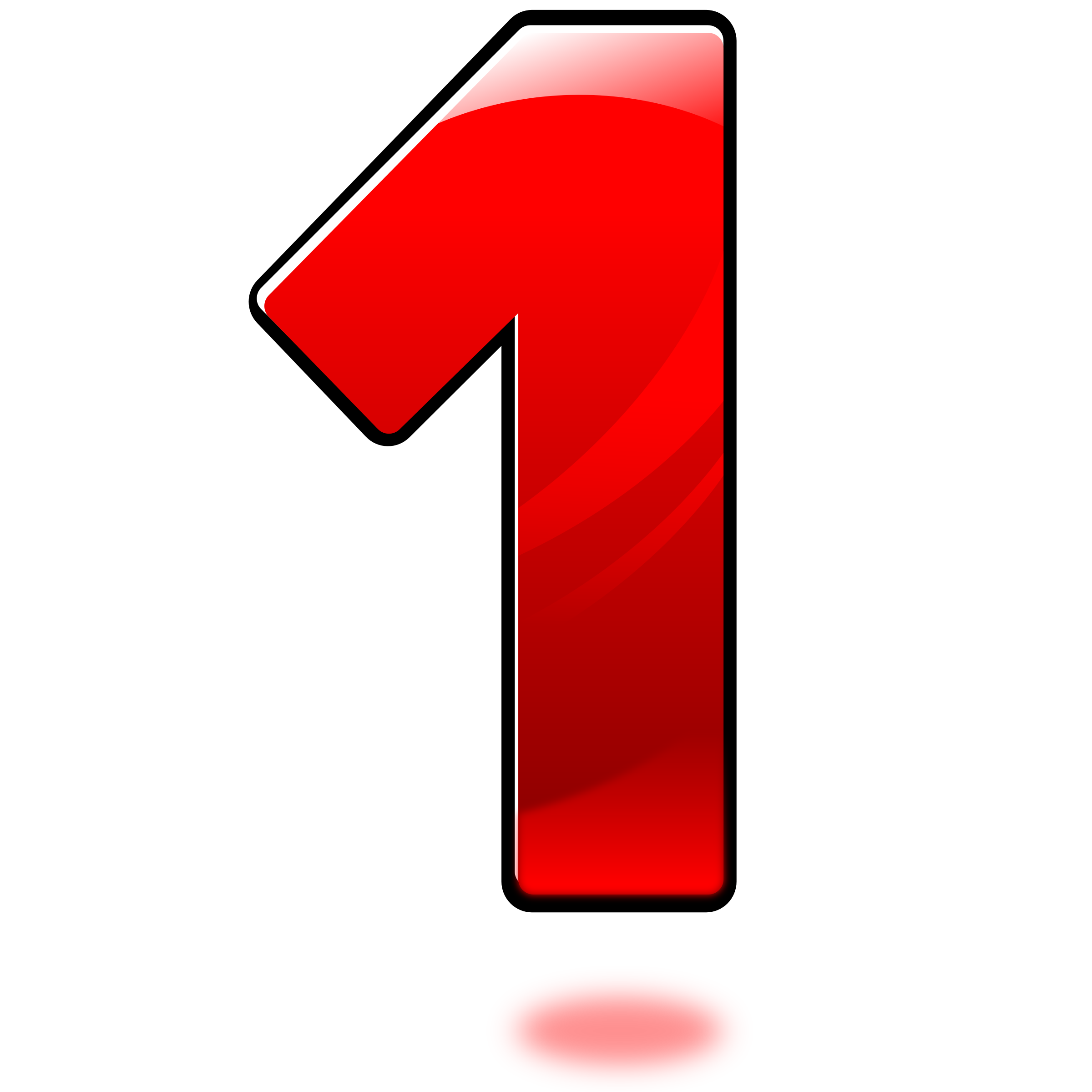 number 1 picture red color