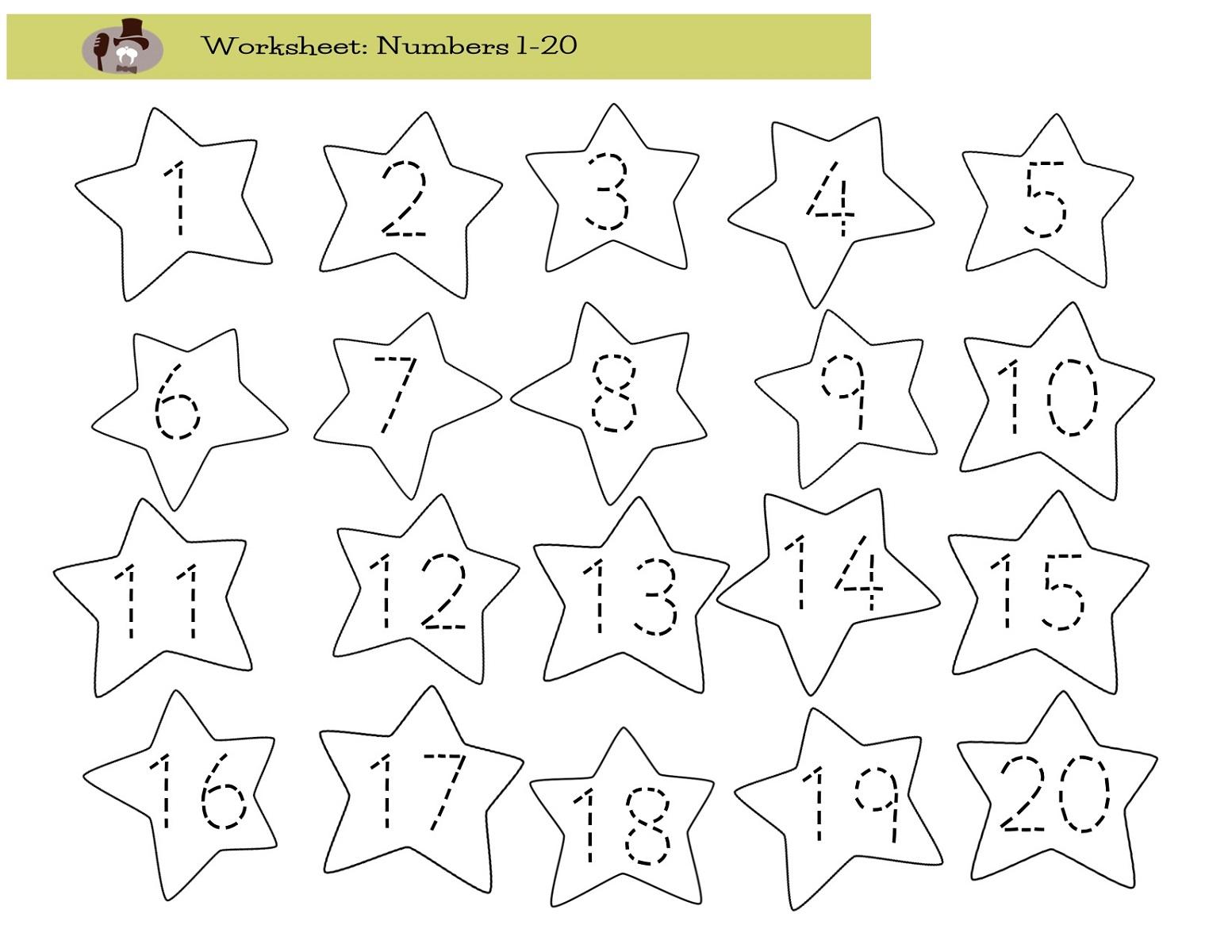 number 20 worksheet printable
