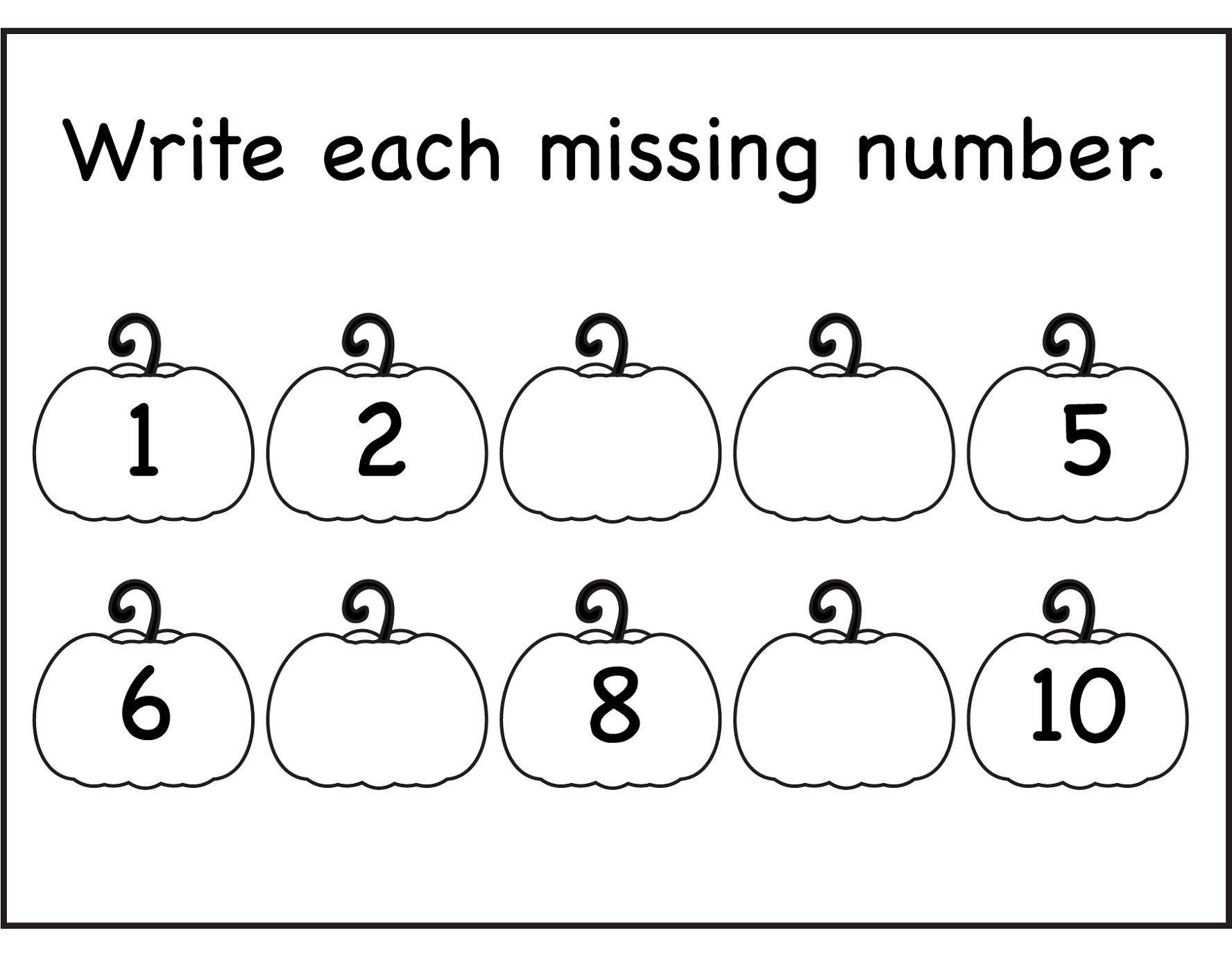 Worksheets For Kindergarten Numbers 1 10 Deployday – Number Worksheets for Kindergarten