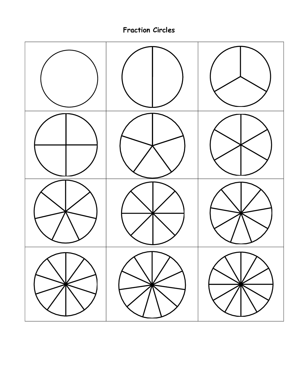 Percent circle templates printable activity shelter for Circle templates to print