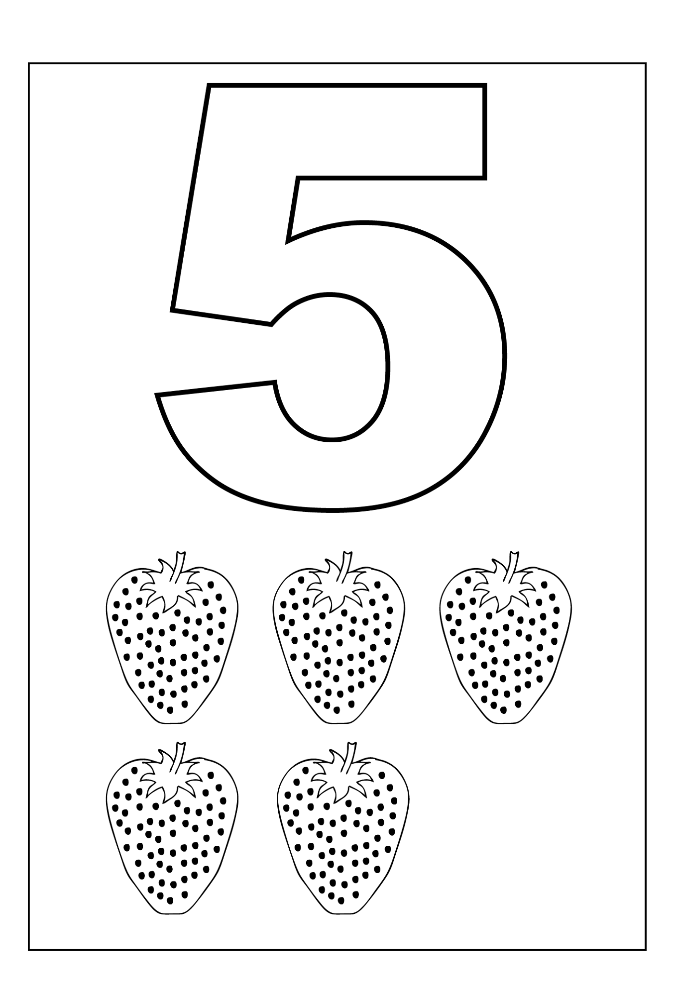 picture of number 5 for kindergarten