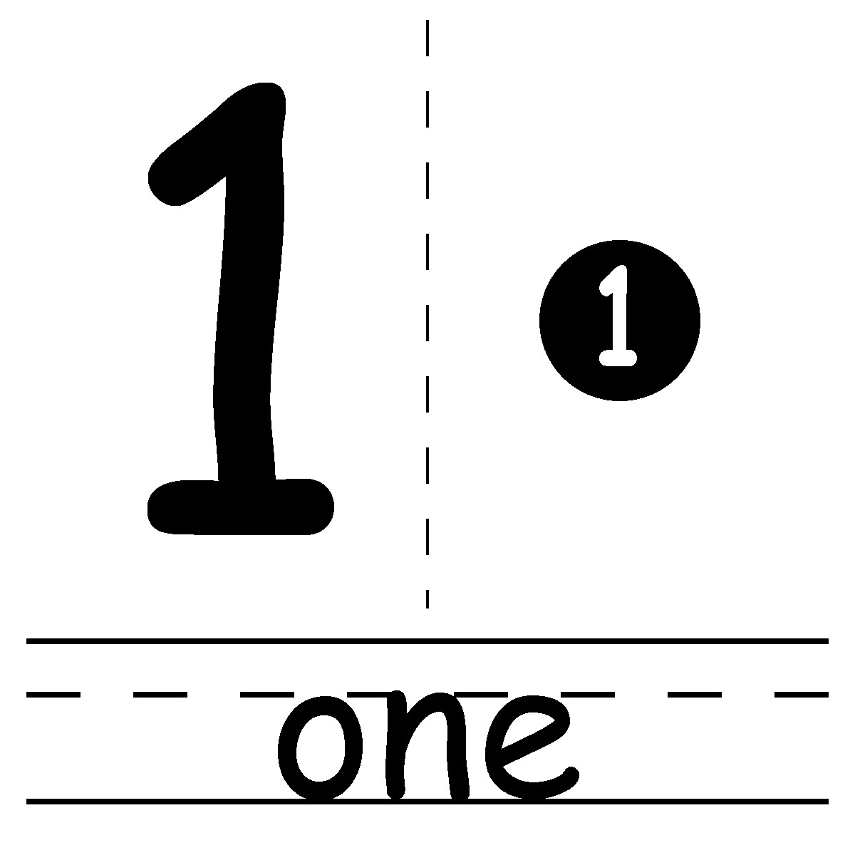 picture of the number 1 sheet