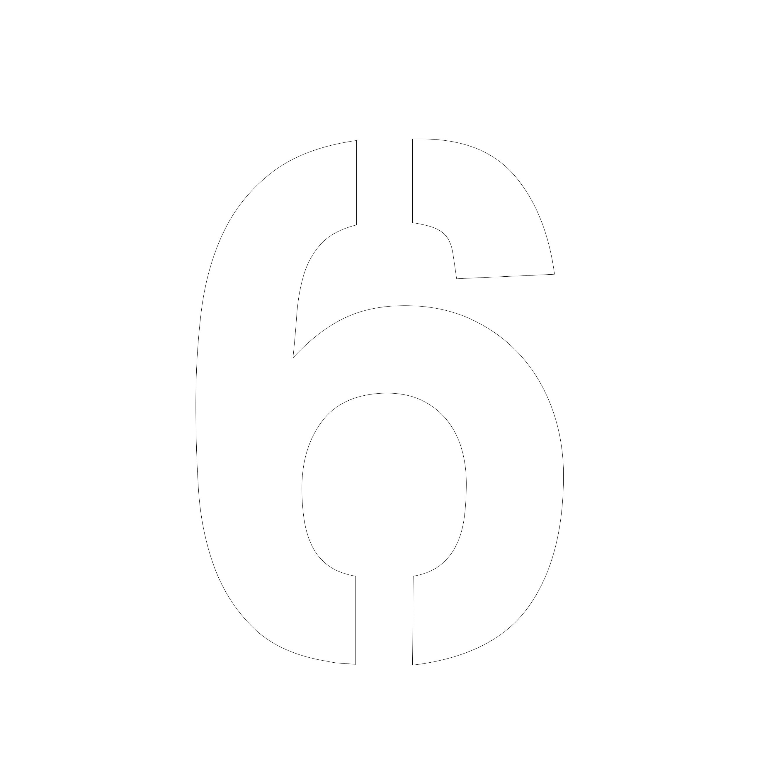 picture of the number 6 design