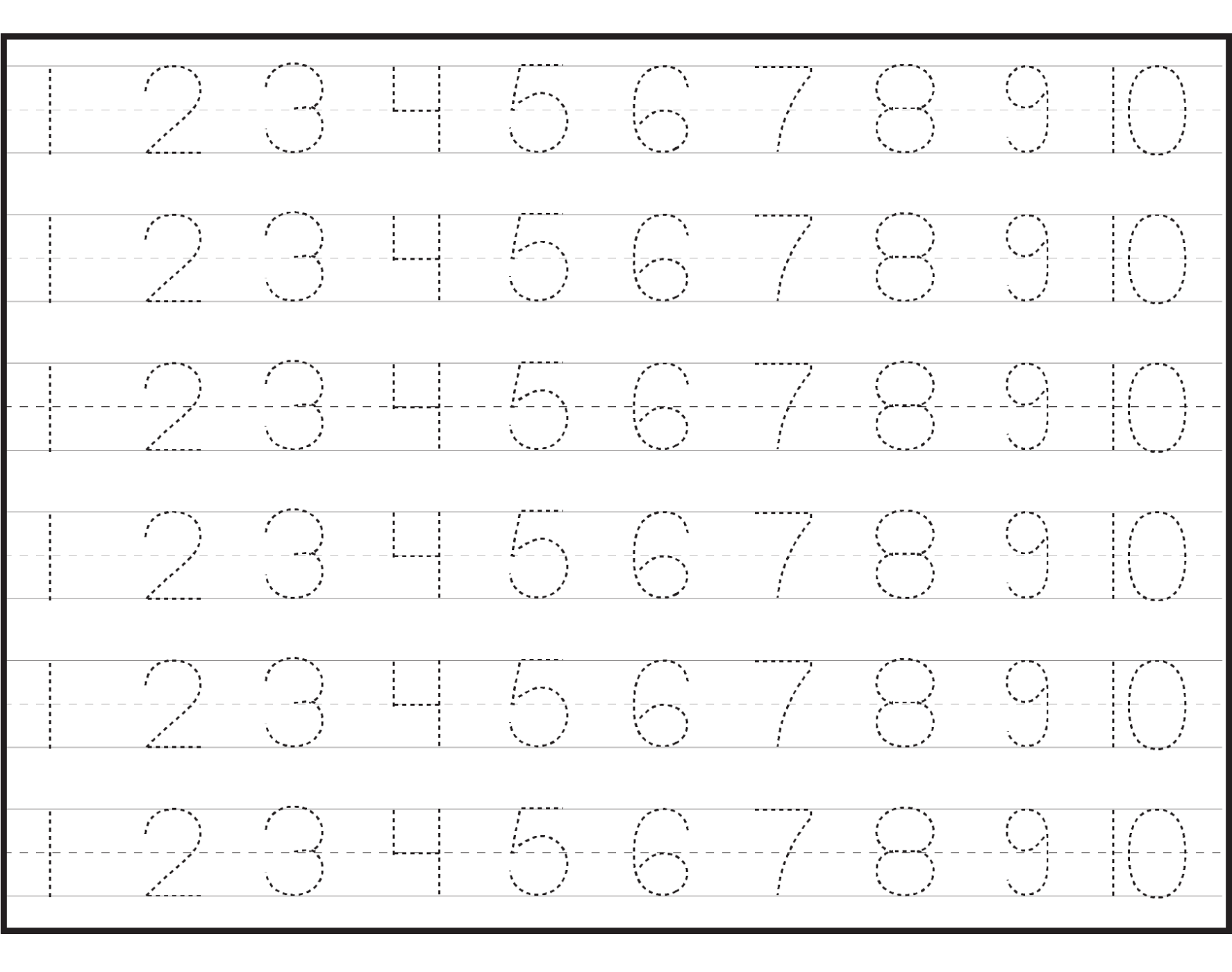 pre k worksheets numbers numbers