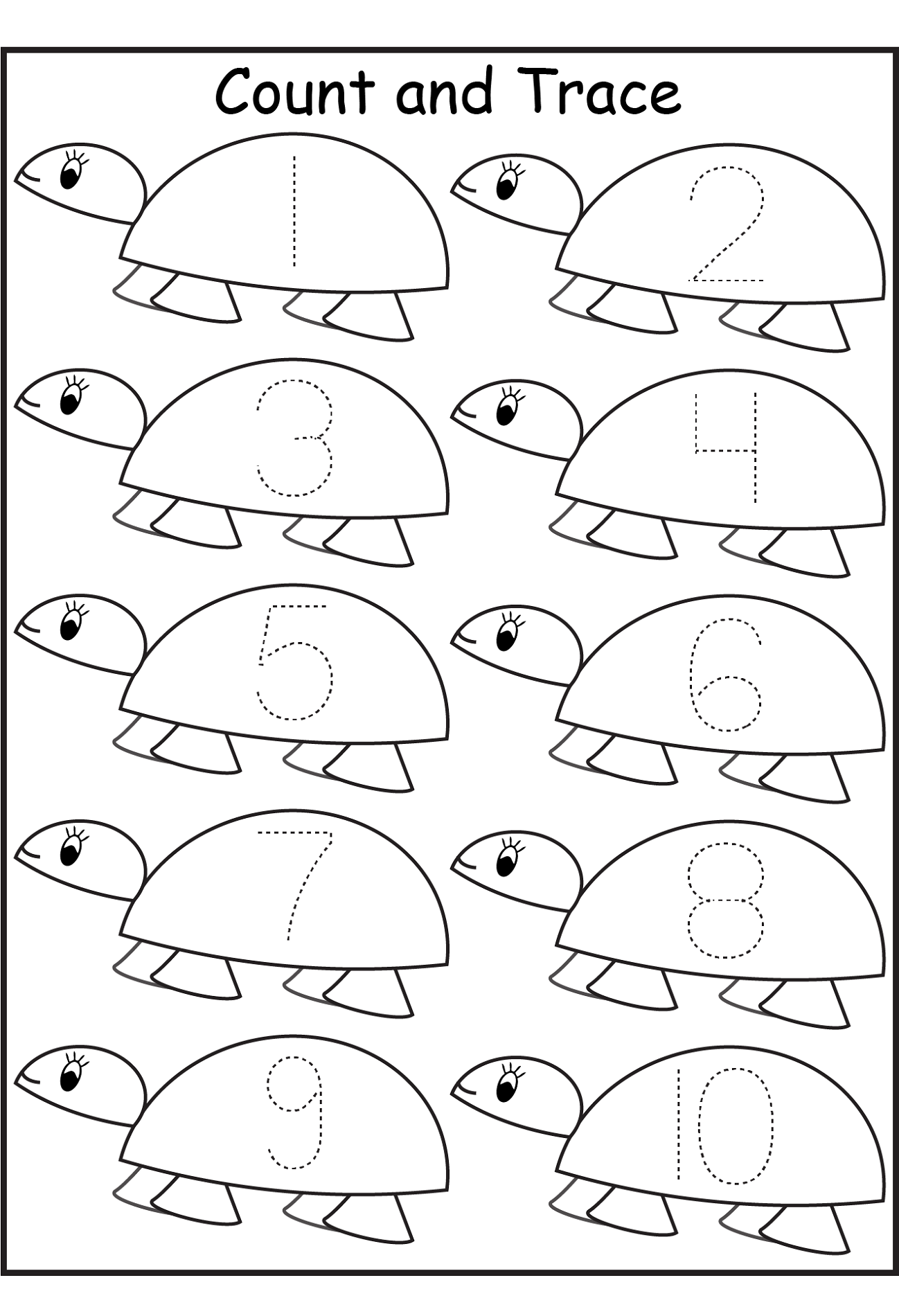pre k worksheets numbers tracing