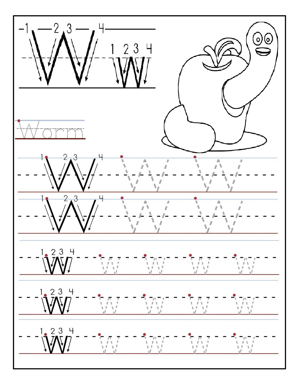 Abc Worksheets For Kindergarten Printables Kindergarten
