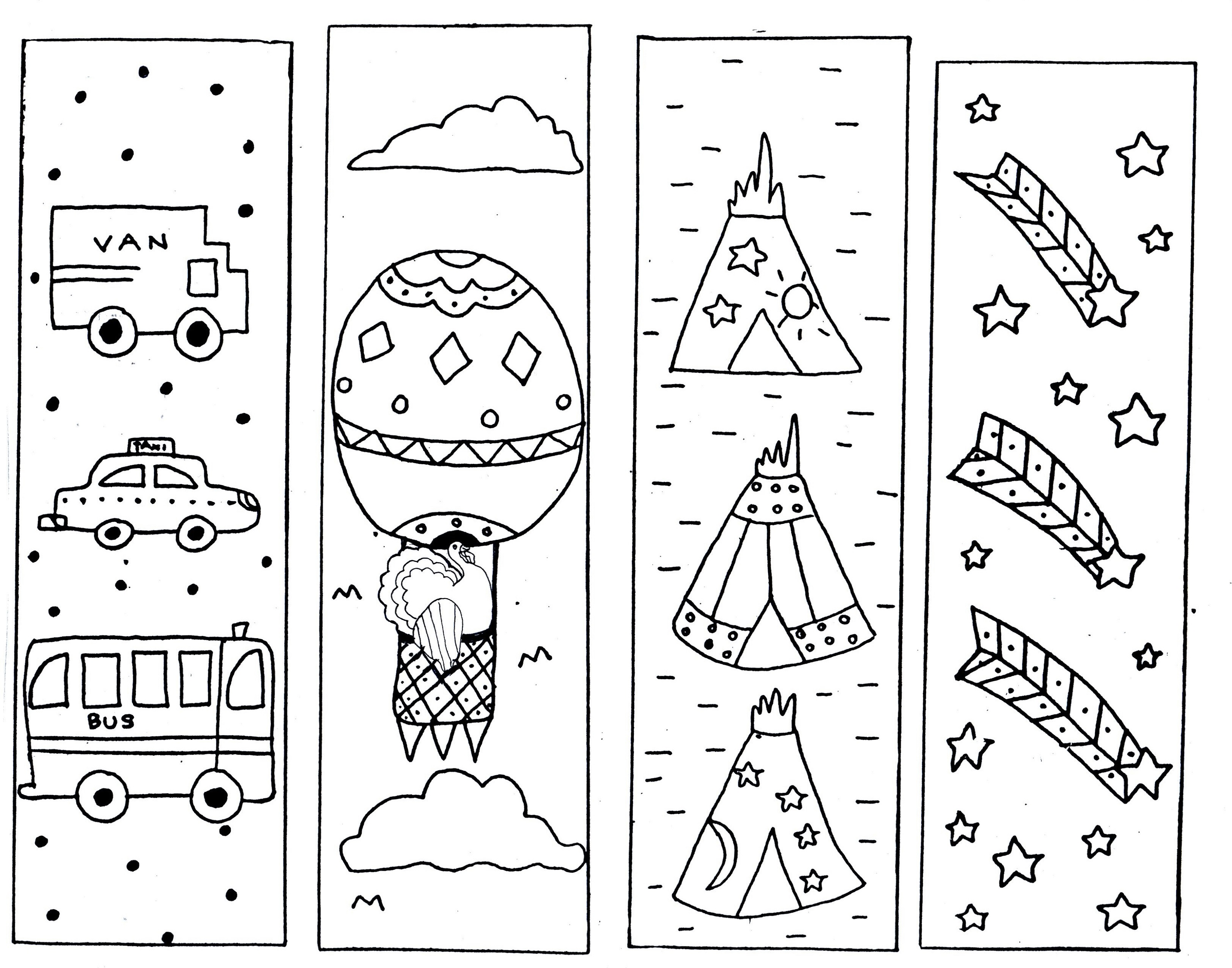 Printable Coloring Bookmarks Free : Printable bookmarks for kids activity shelter
