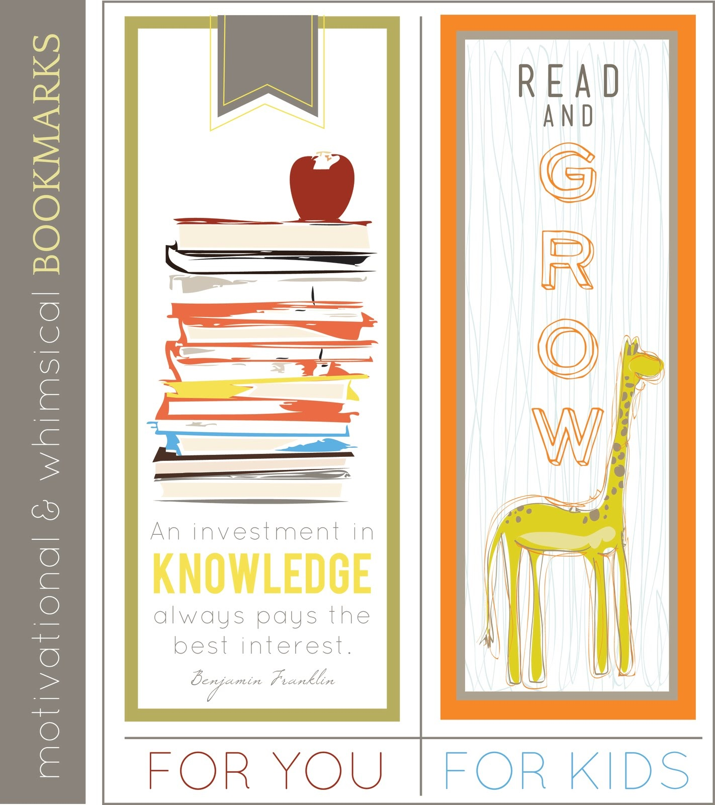printable bookmarks for kids interesting