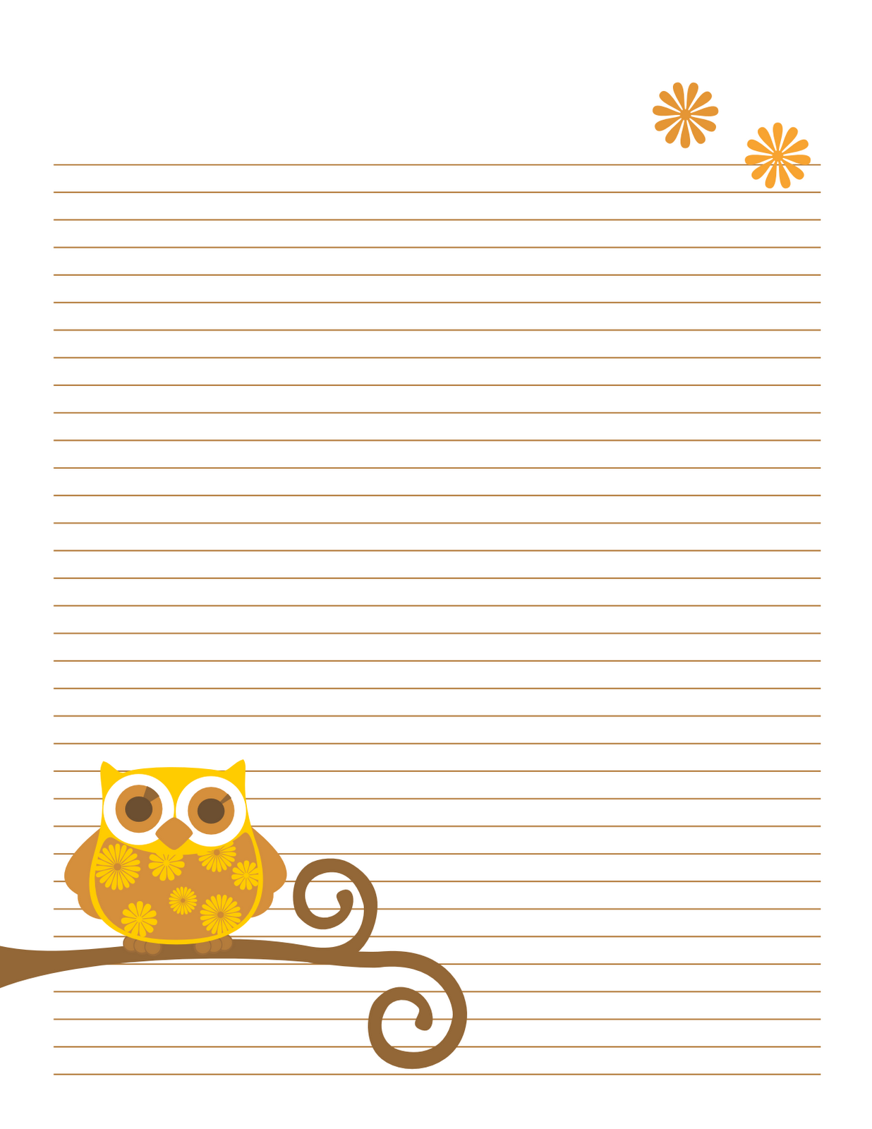 printable notebook paper cute