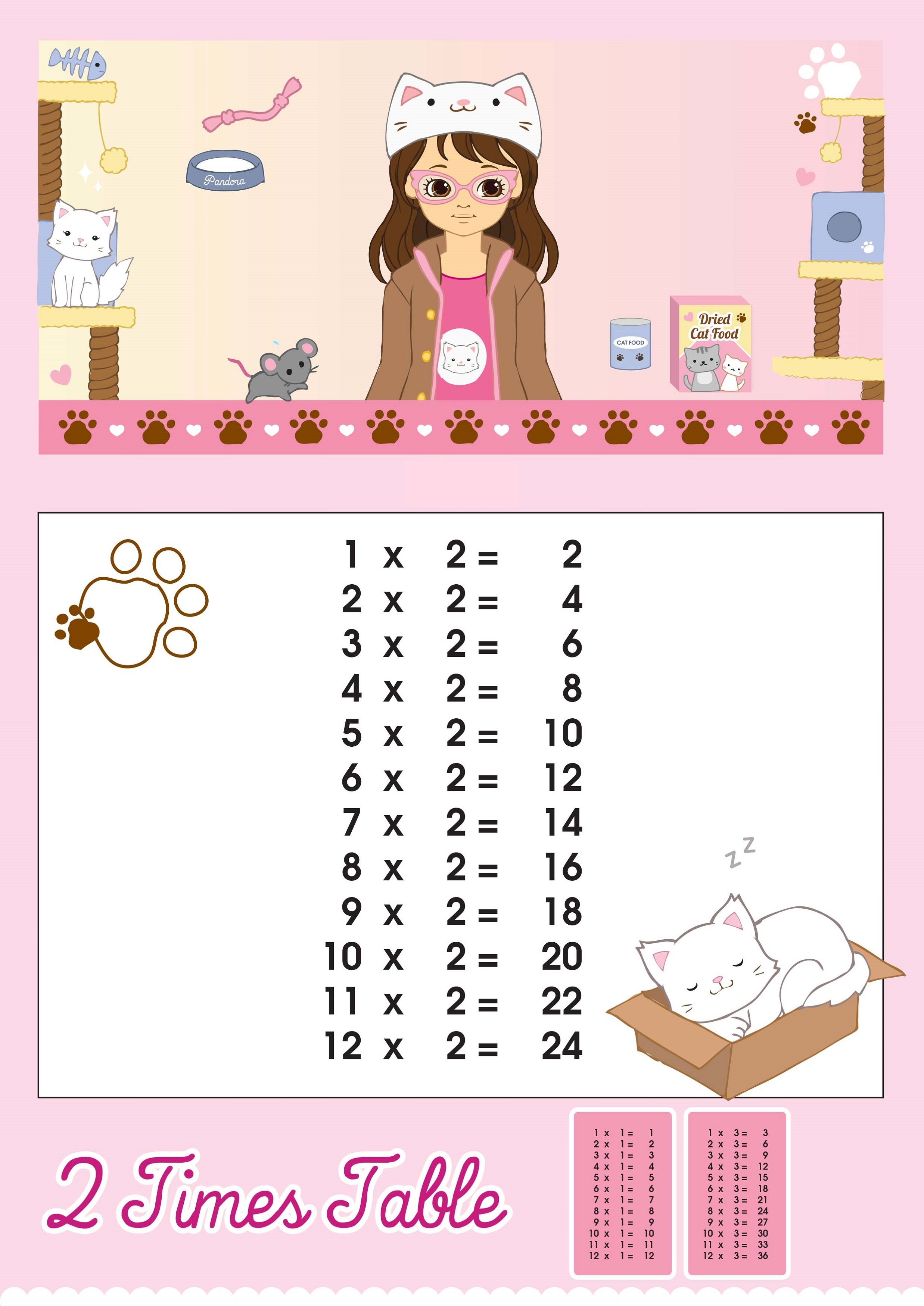 Printable Time Tables Charts | Activity Shelter
