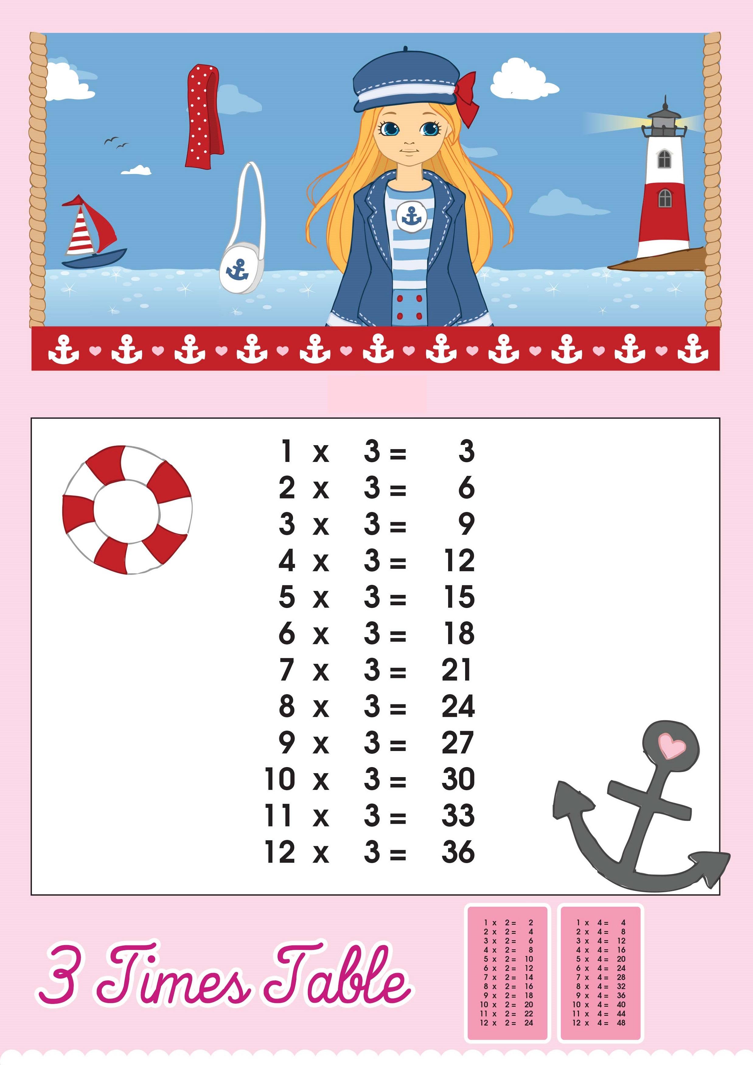 printable times table chart for girls